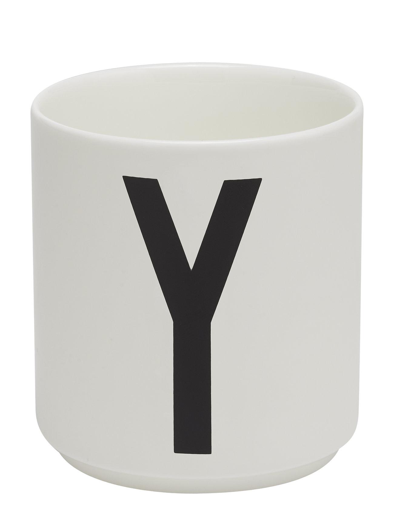 Design Letters Porcelain Cup A-Z, Æ, Ø Kodin Sisustus Valkoinen Design Letters