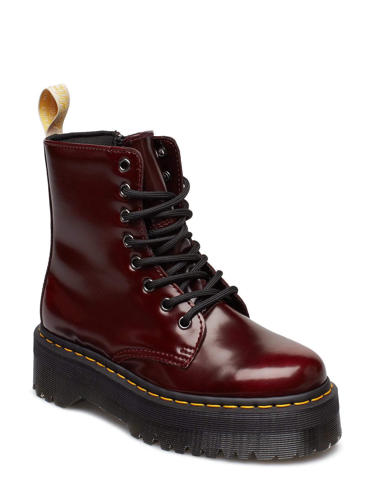 Image of Dr. Martens Jadon Shoes Boots Ankle Boots Ankle Boots Flat Heel Punainen Dr. Martens