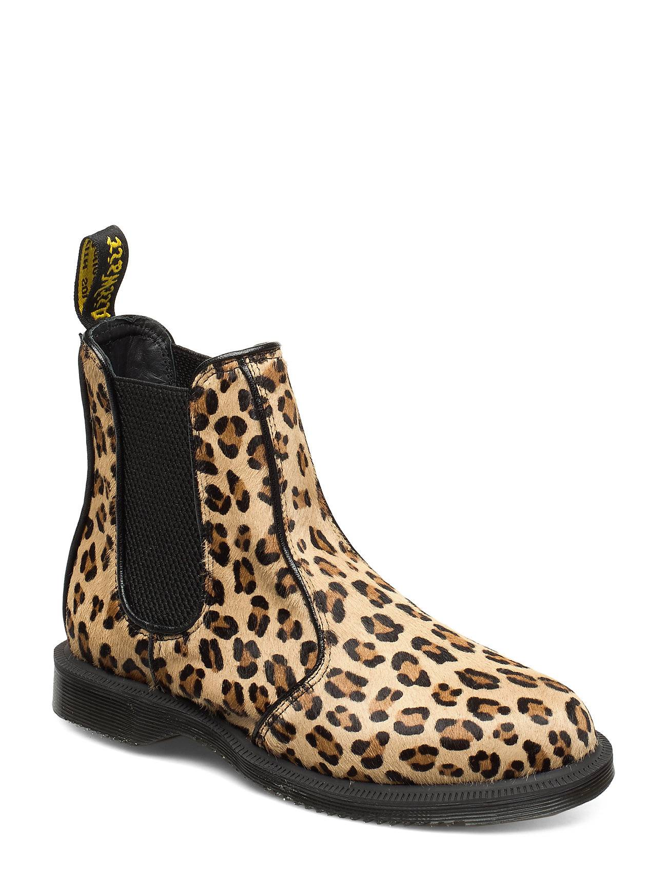 Image of Dr. Martens Flora Hair On Chelsea-saappaat Bootsit Beige Dr. Martens