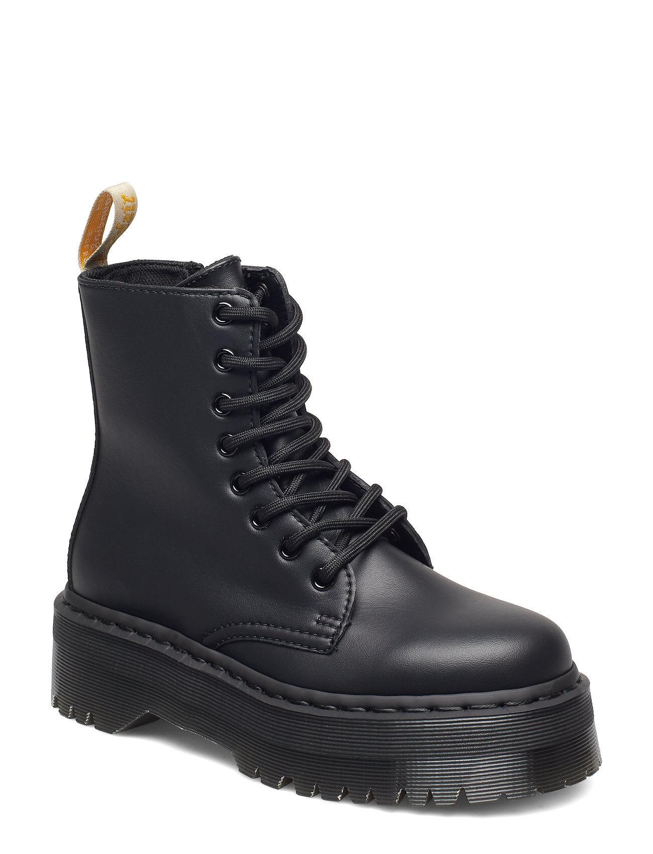 Image of Dr. Martens Jadon Vegan Mono Shoes Boots Ankle Boots Ankle Boots Flat Heel Musta Dr. Martens