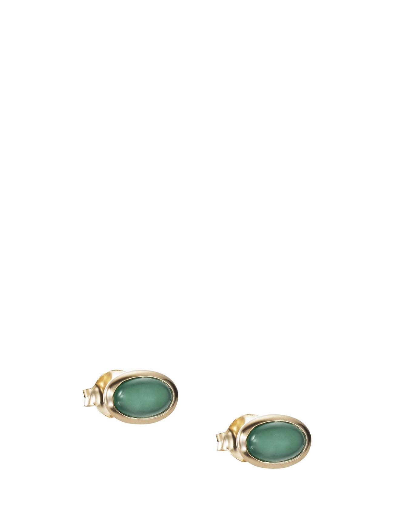 Efva Attling Love Bead Ear - Green Agate
