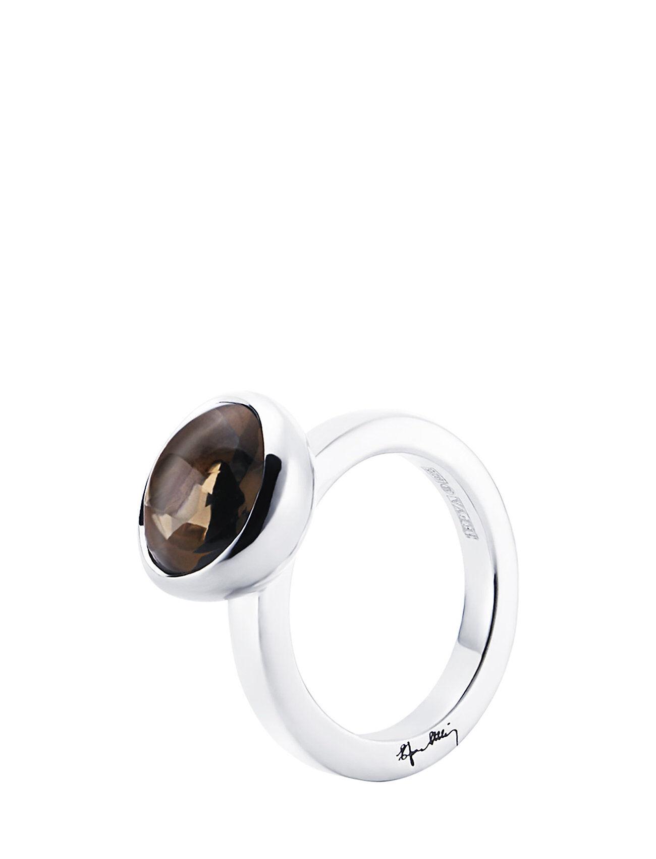Efva Attling Love Bead Grande Ring - Smokey Quartz
