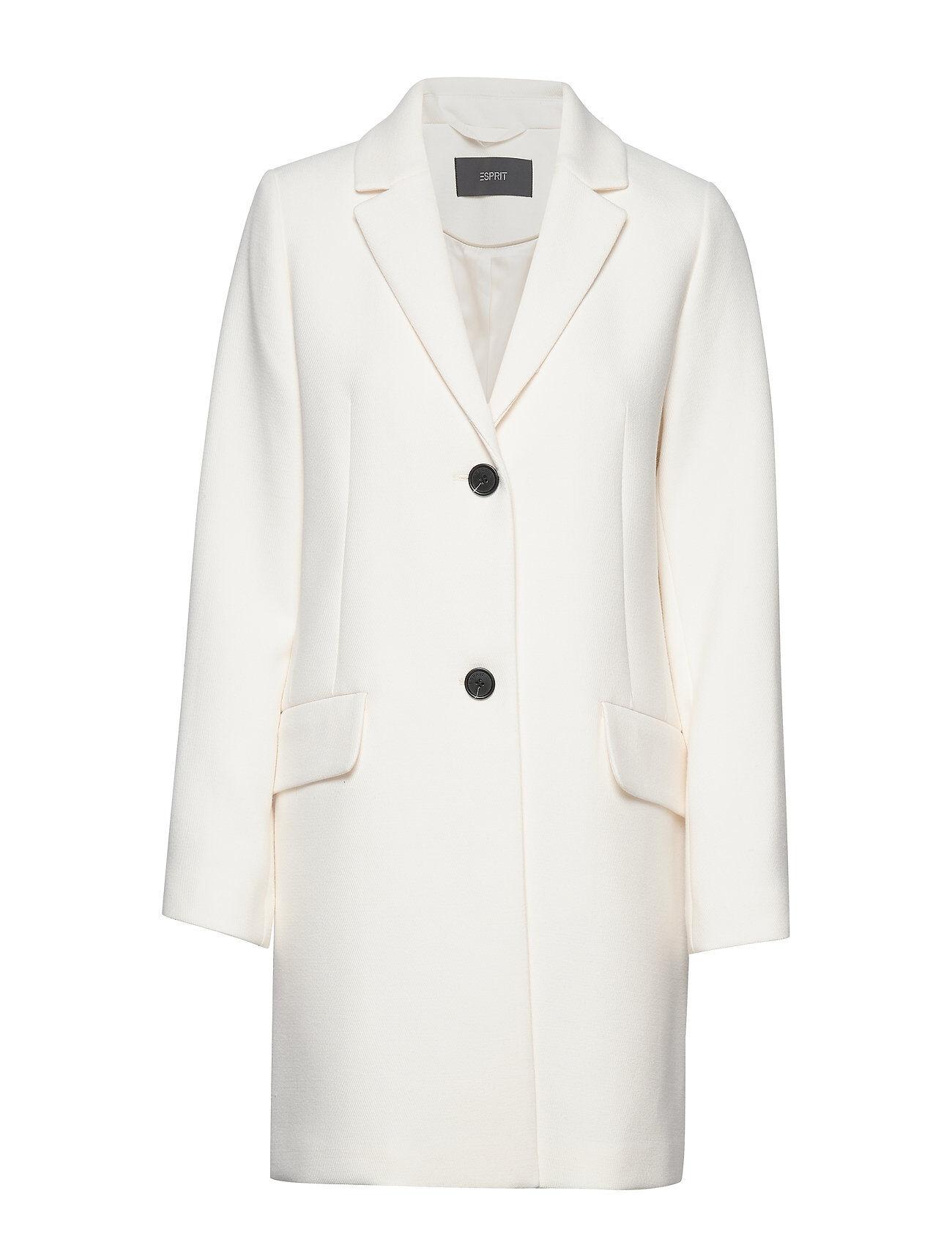 Image of Esprit Collection Coats Woven Bleiseri Puvun Takki Valkoinen Esprit Collection