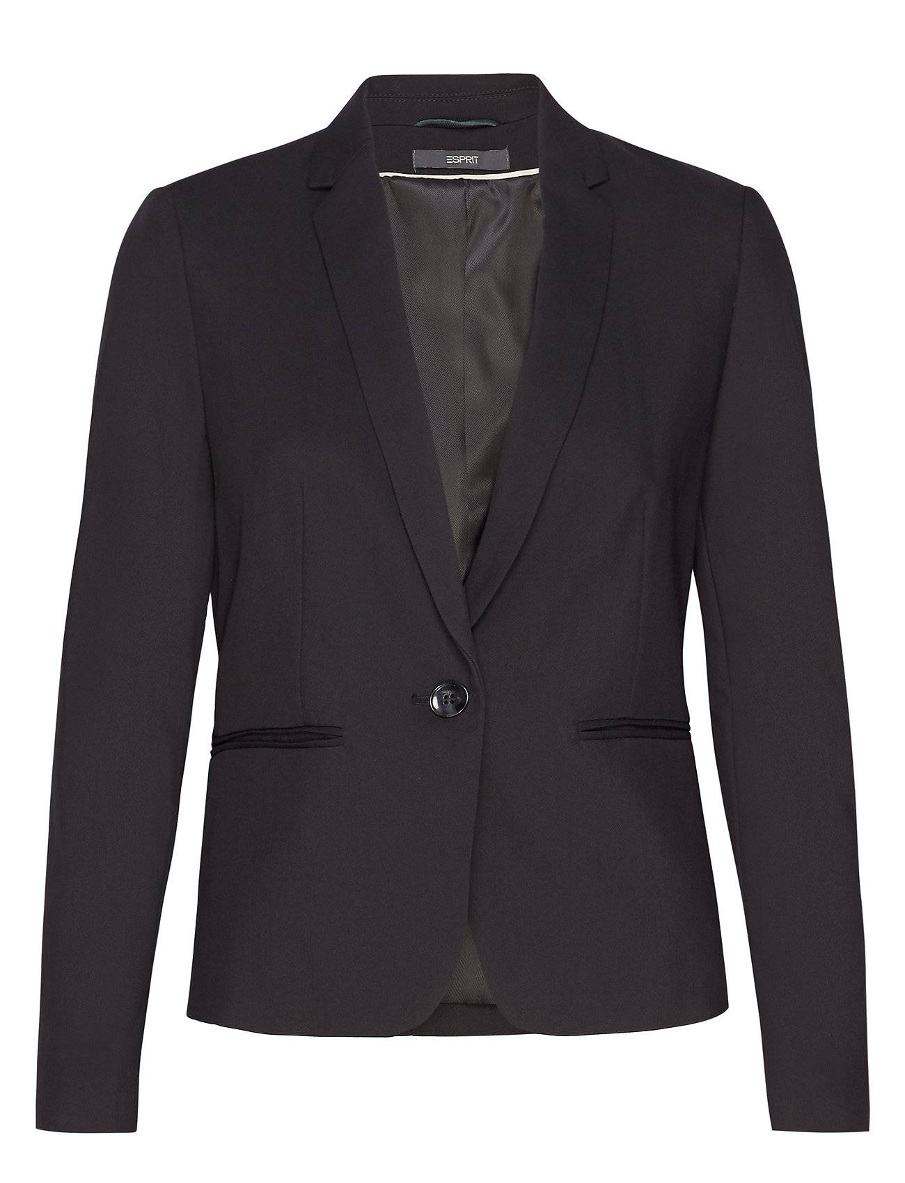 Image of Esprit Collection Blazers Woven Bleiseri Puvun Takki Musta