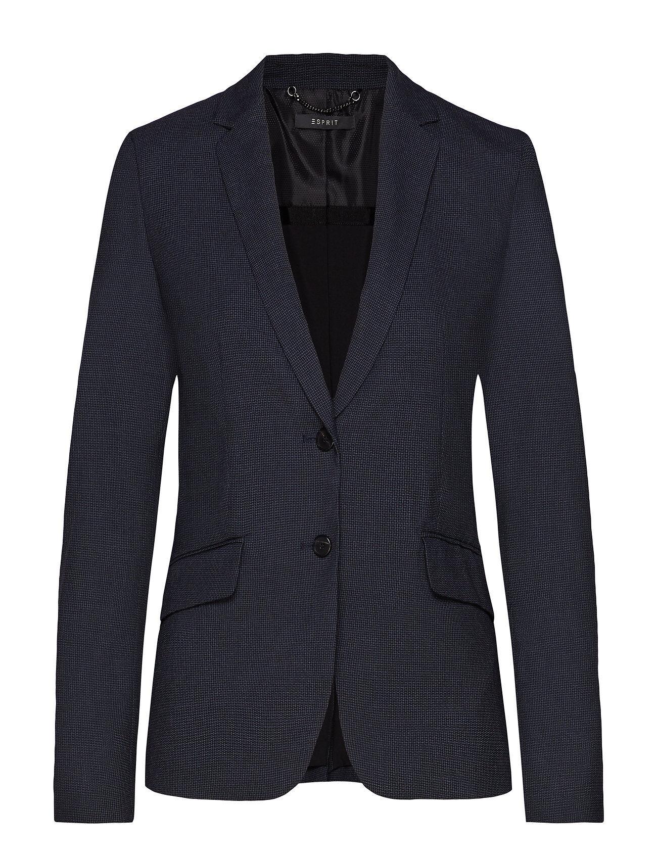 Image of Esprit Collection Blazers Woven Bleiseri Puvun Takki Sininen Esprit Collection