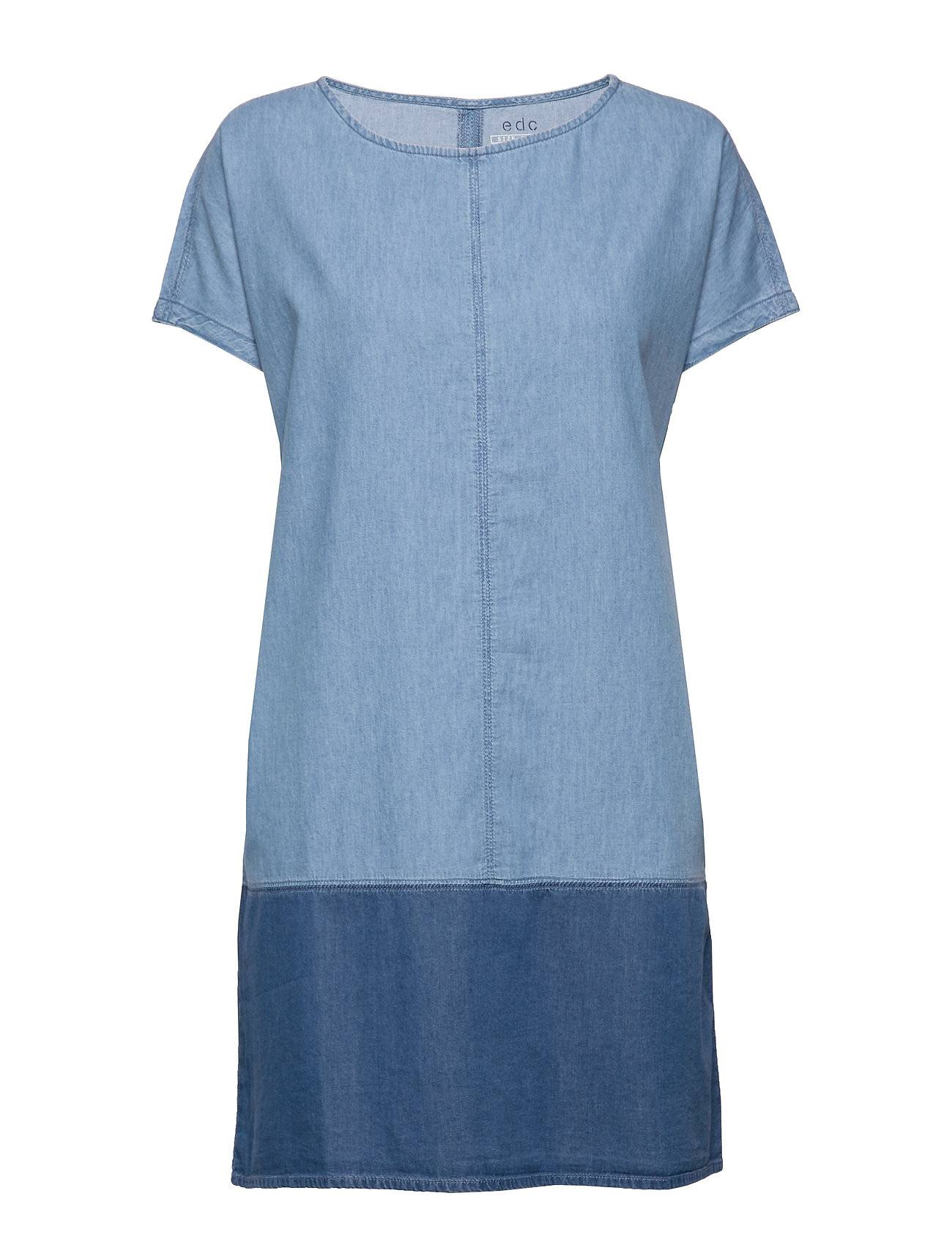 EDC by Esprit Dresses Denim Lyhyt Mekko Sininen EDC By Esprit