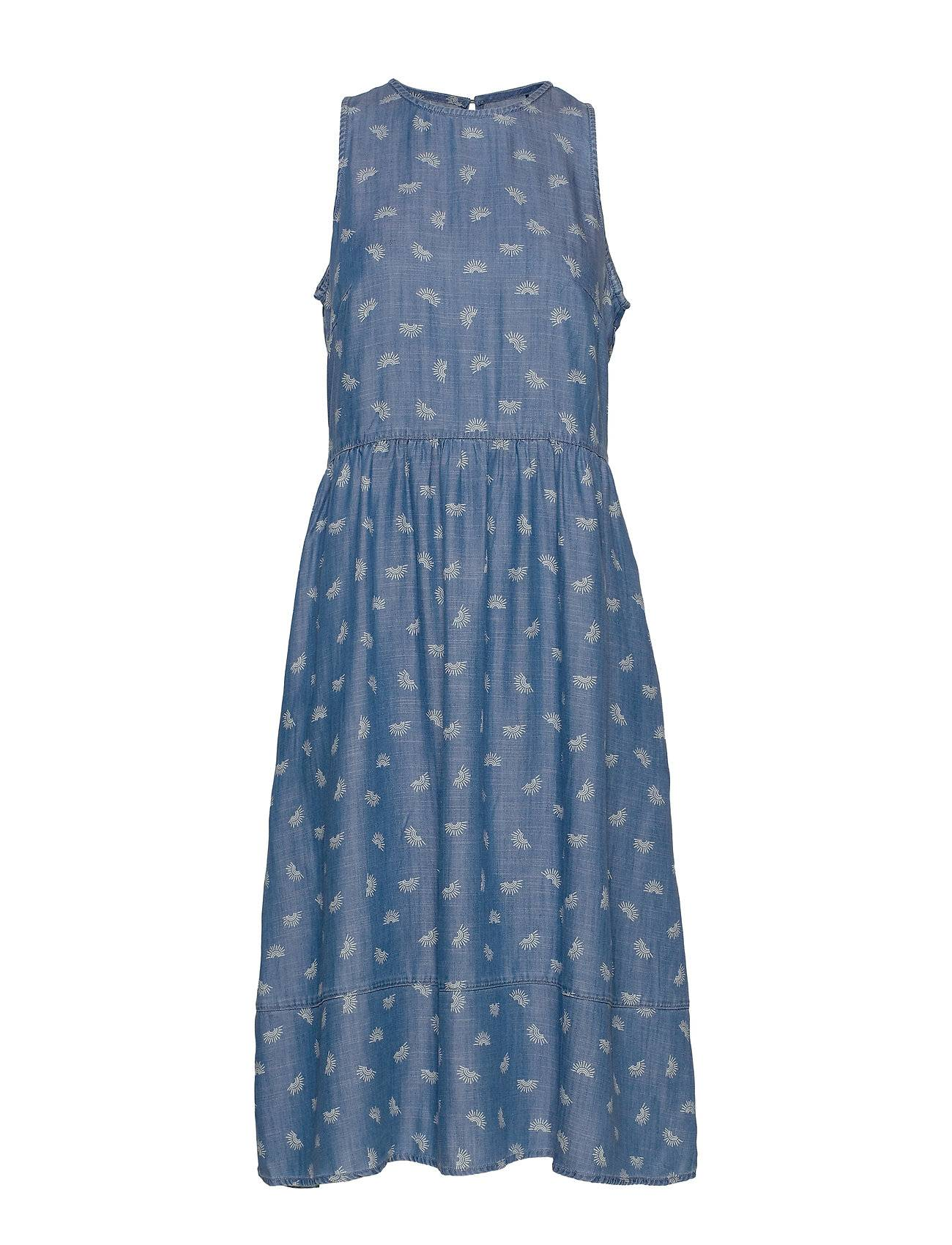 EDC by Esprit Dresses Denim Polvipituinen Mekko Sininen EDC By Esprit