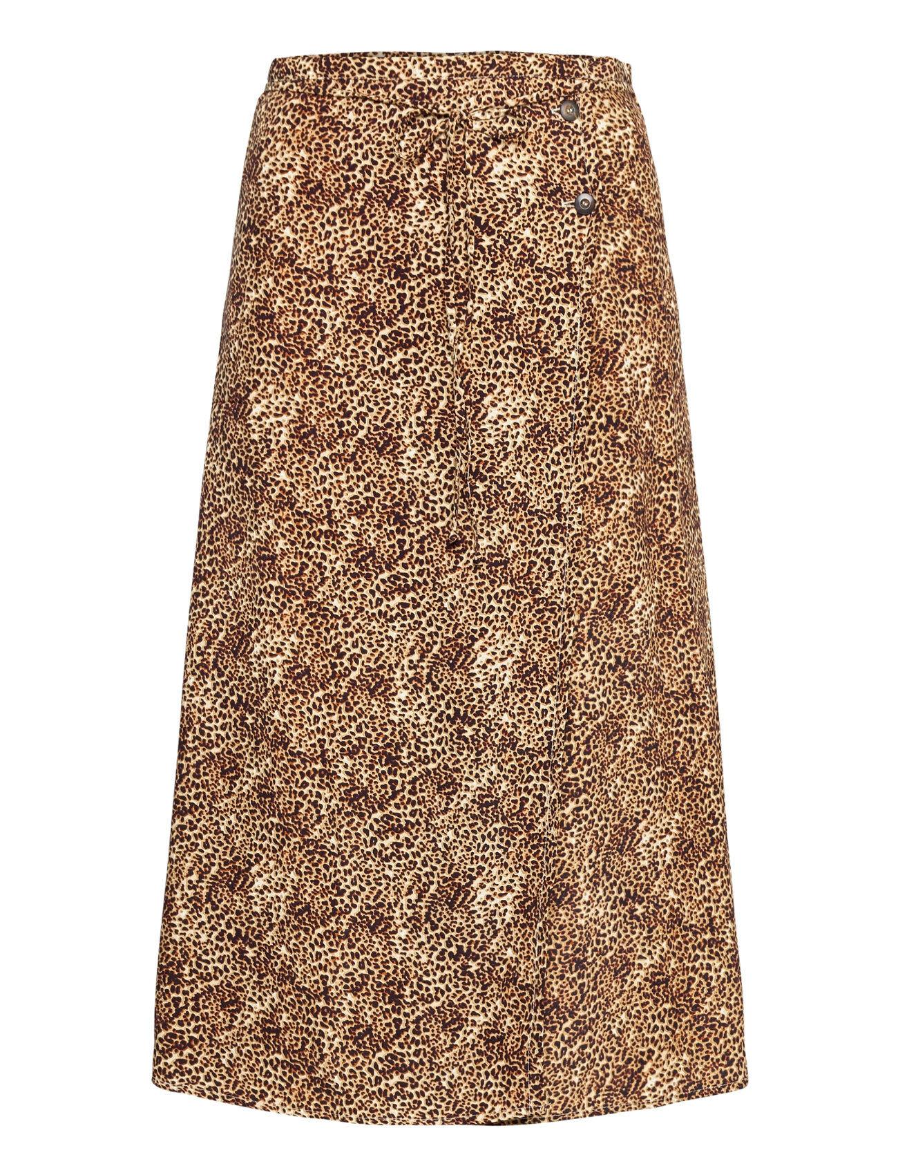 Faithfull The Brand Milana Wrap Skirt Polvipituinen Hame Ruskea Faithfull The Brand