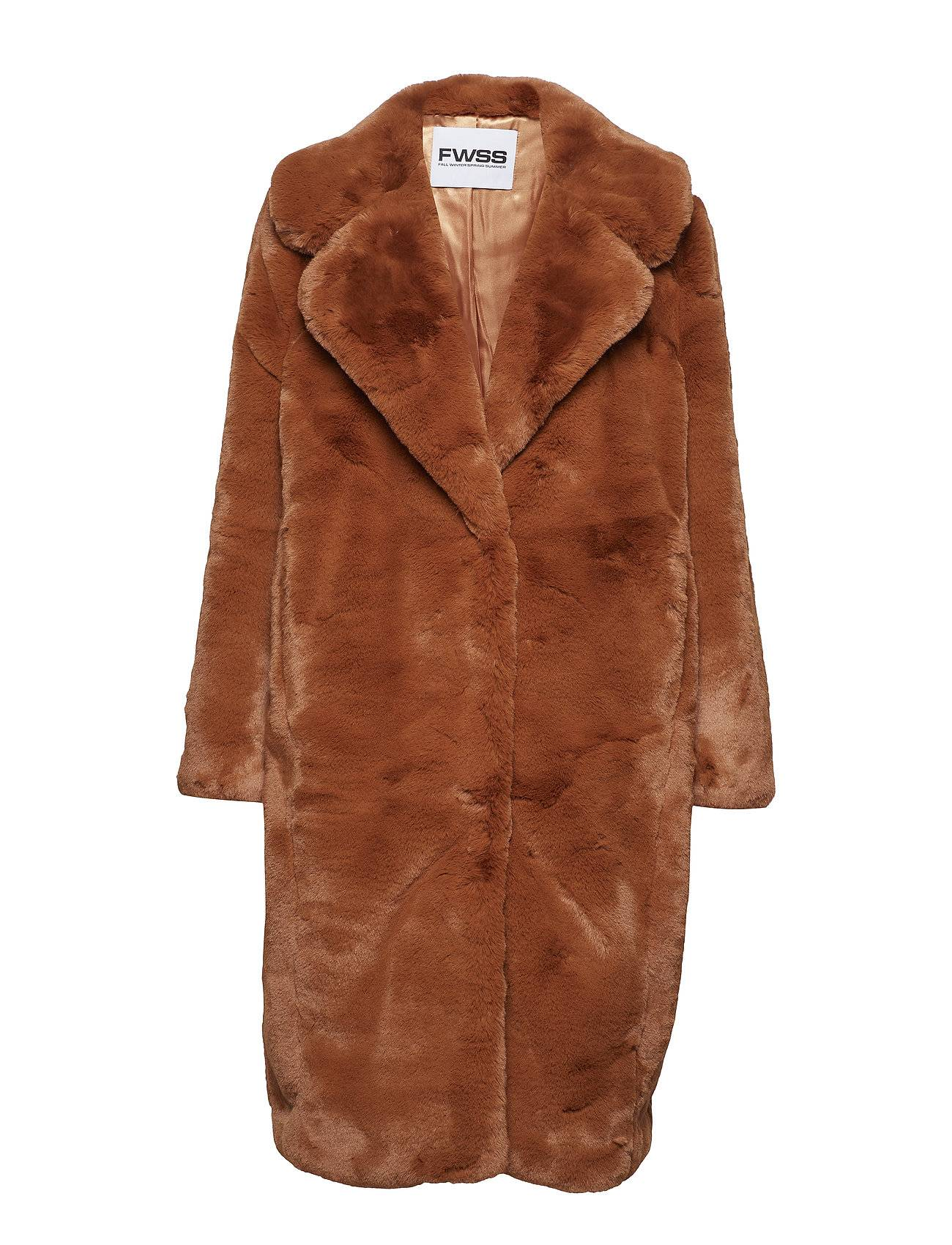Fall Winter Spring Summer Stina Outerwear Faux Fur Oranssi Fall Winter Spring Summer