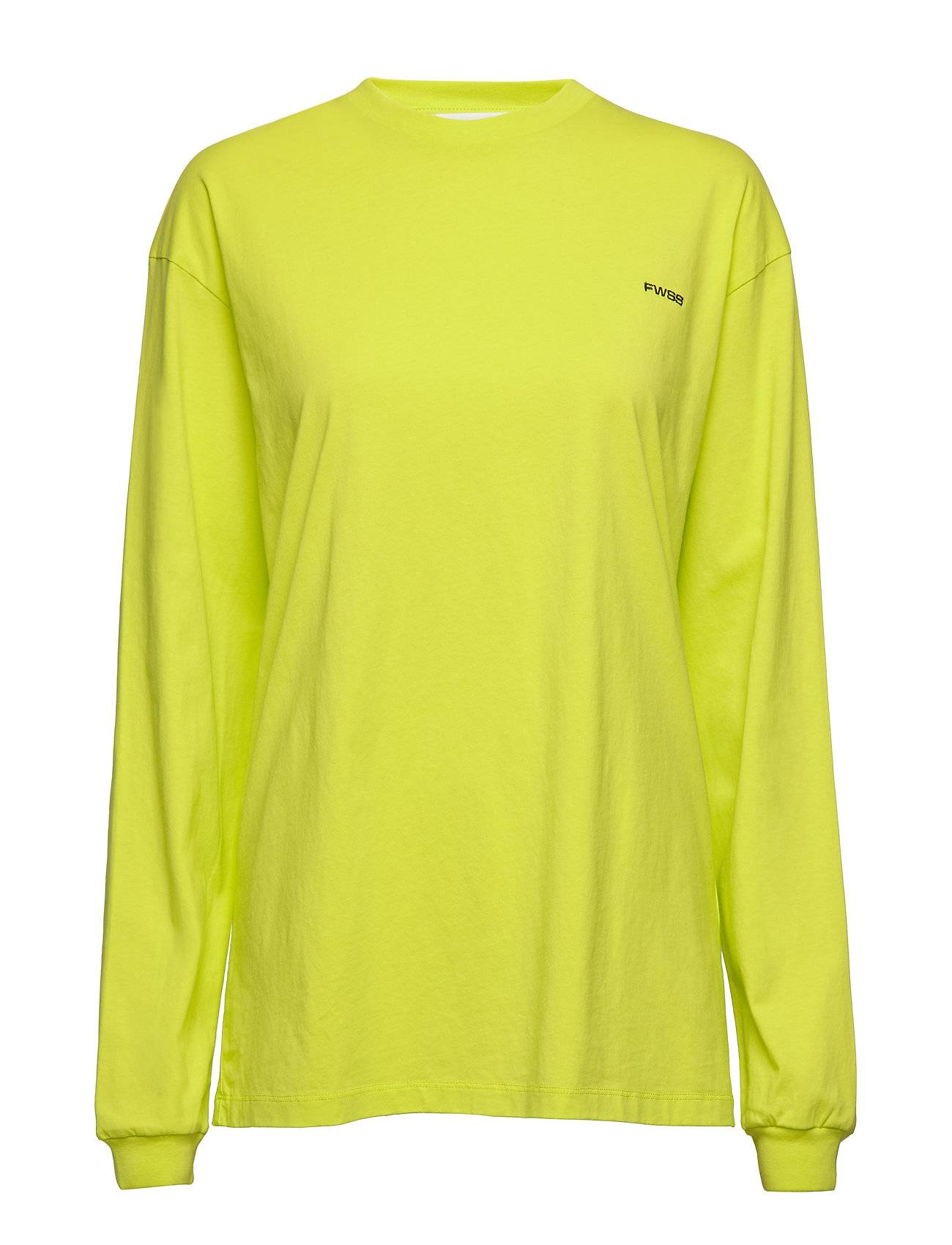 Fall Winter Spring Summer Kelly T-shirts & Tops Long-sleeved Keltainen Fall Winter Spring Summer