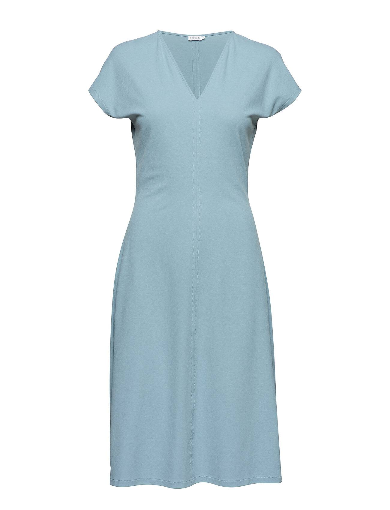 Filippa K Clean-Cut Cap Sleeve Dress Polvipituinen Mekko Sininen