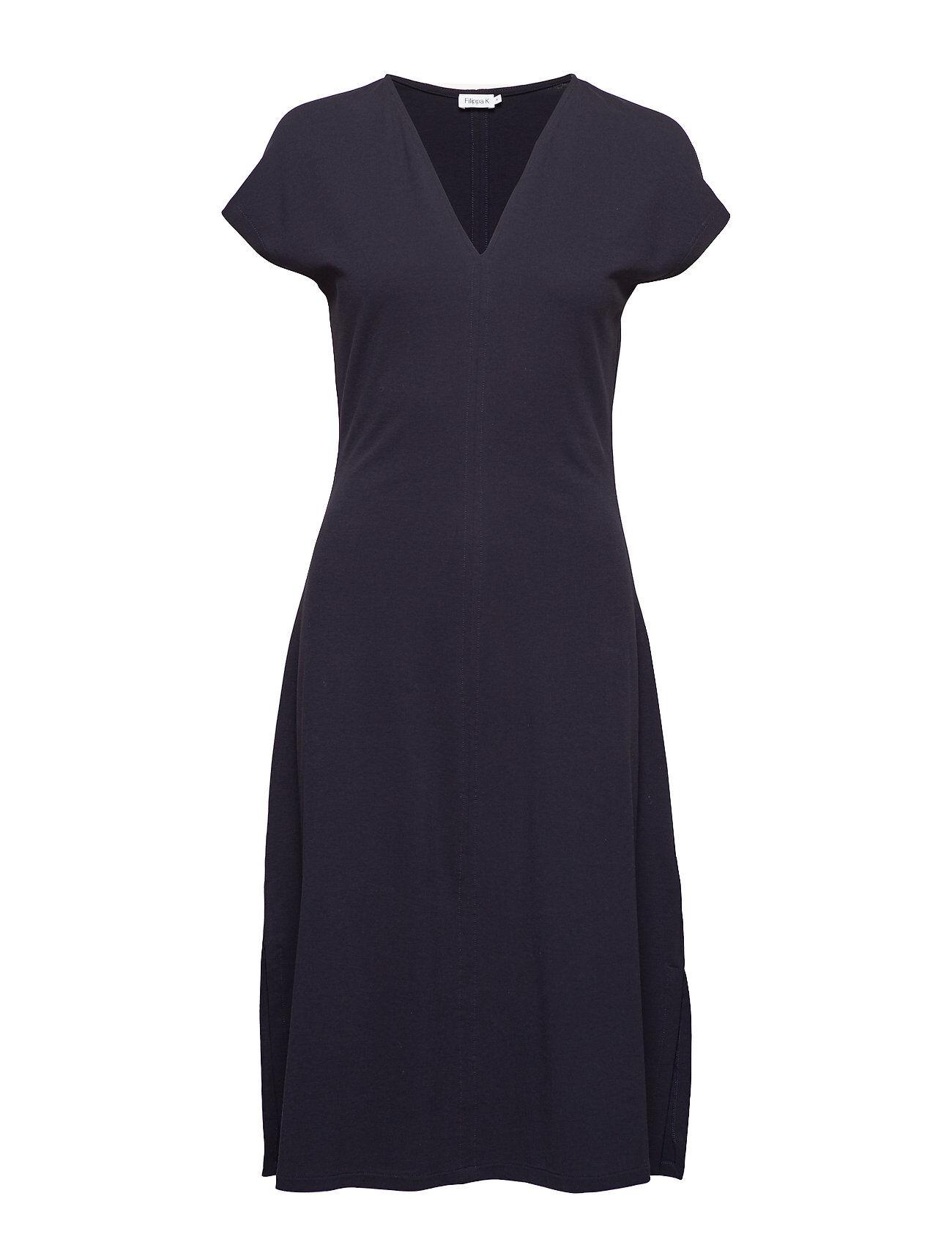FILIPPA K Clean-Cut Cap Sleeve Dress Polvipituinen Mekko Sininen FILIPPA K