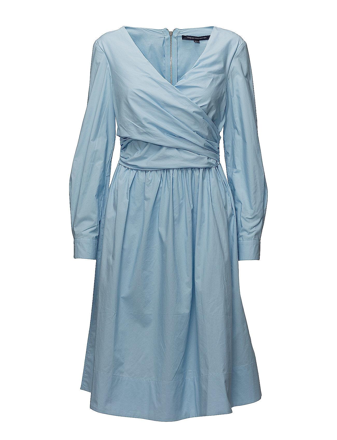French Connection Eastside Cotton V-Neck Flared Dress