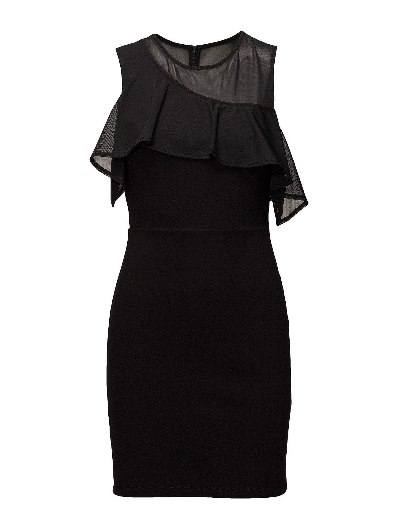 French Connection Lore Lula Ponte Cutout Shoulder Dres