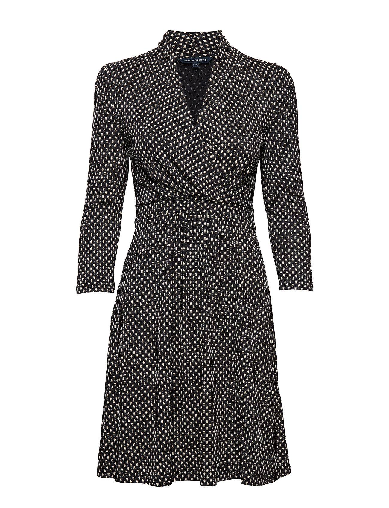 French Connection Caressa Meadow Jersey V Neck Wrap Dress