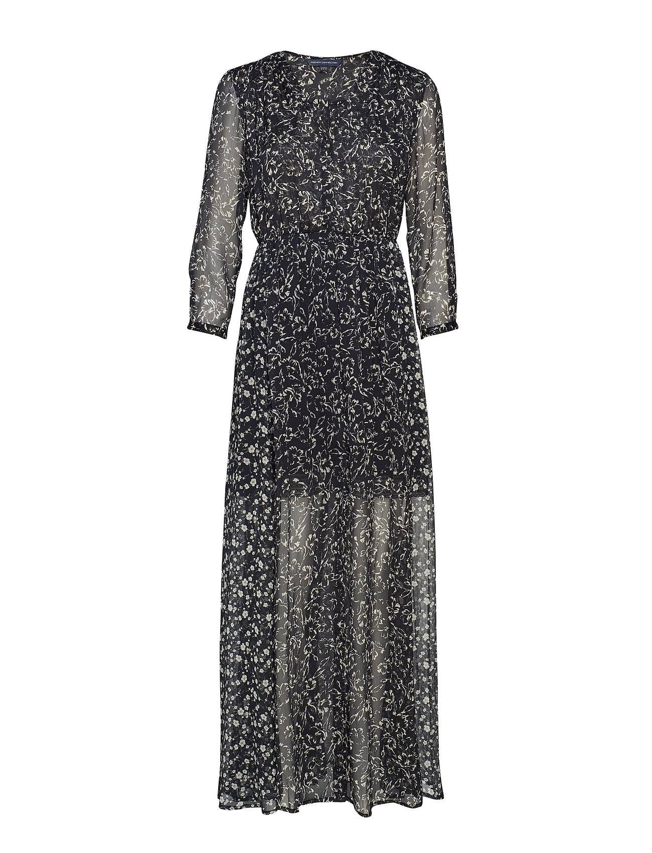 French Connection Amelia Crinkle 2 V Neck Maxi Dress