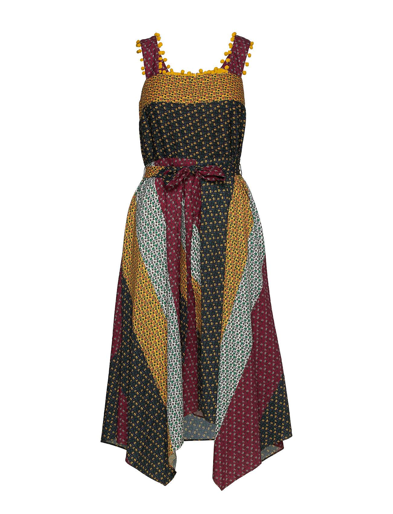 French Connection Adita Drape Mix Print Dress Polvipituinen Mekko Monivärinen/Kuvioitu French Connection