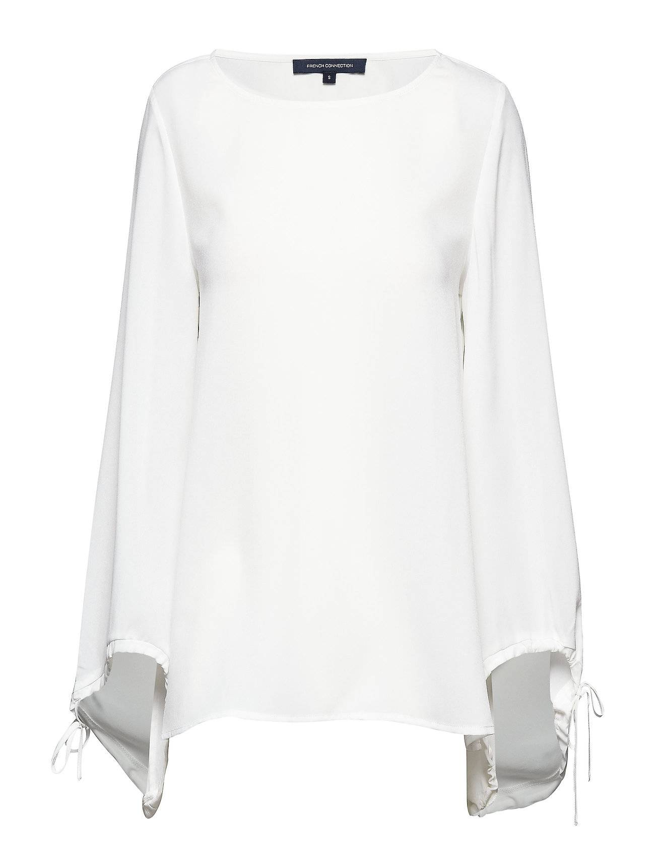 French Connection Crepe Light Solid Puff Sleeve Blouse Pitkähihainen Pusero Paita Valkoinen French Connection