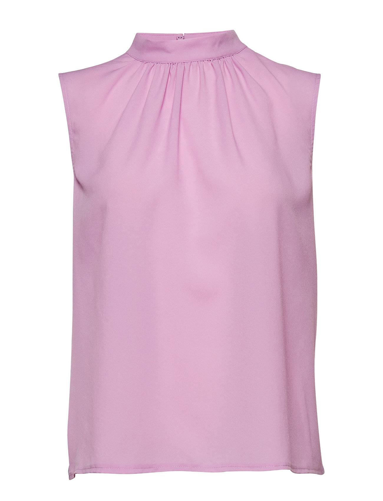French Connection Crepe Light Solid Jersey Sleeveless Top