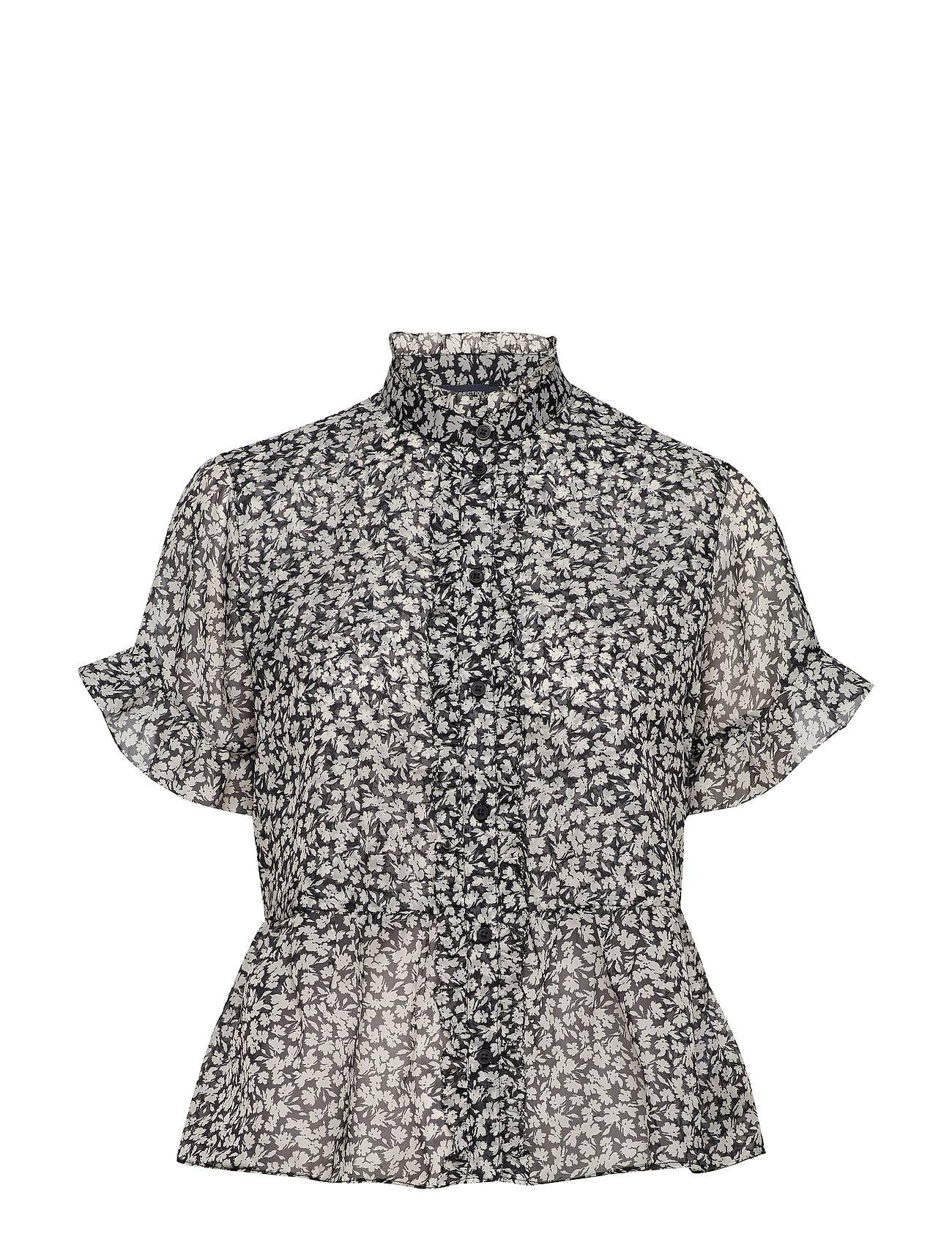 French Connection Elvire Lawn Ruffle Sleeve Blouse