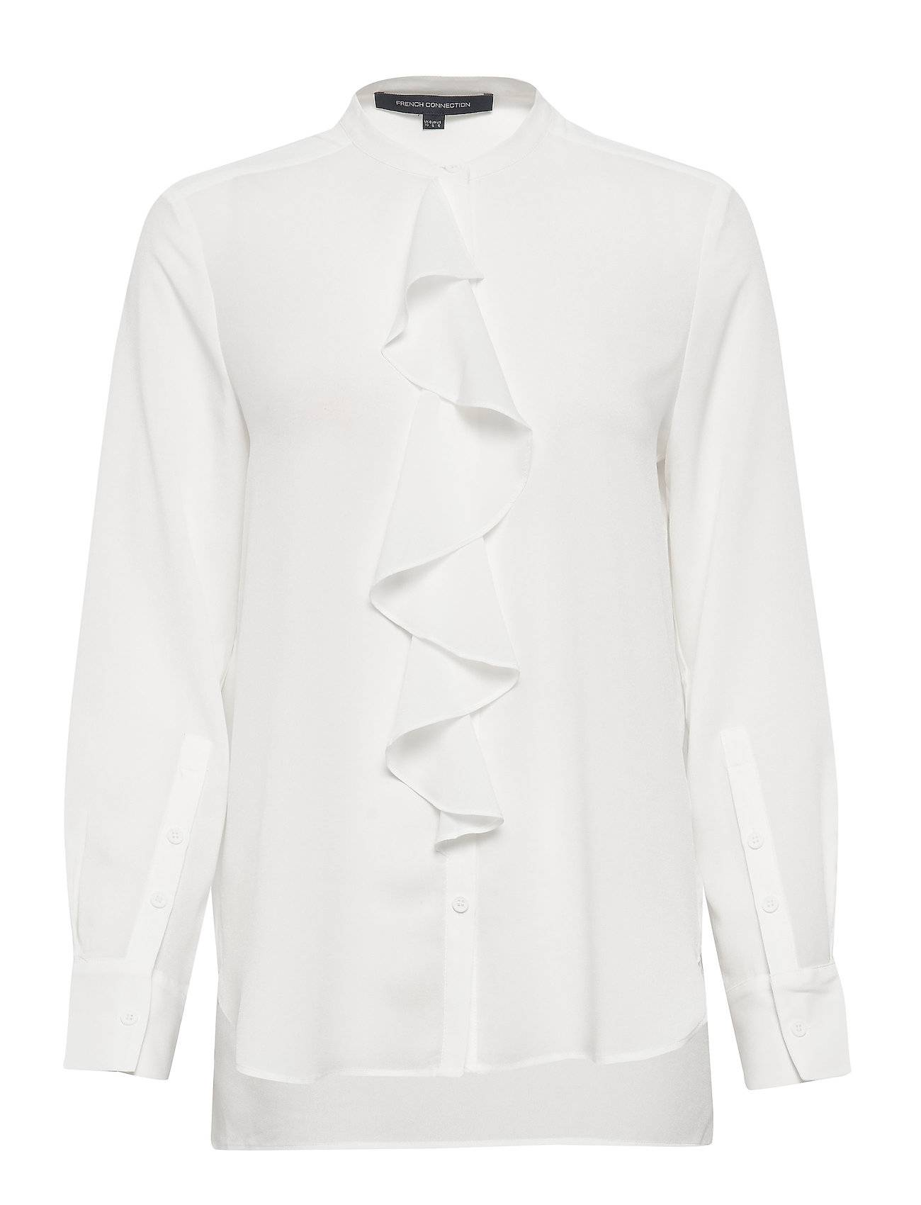 French Connection Elna Light Ruffle Shirt Pitkähihainen Pusero Paita Valkoinen French Connection