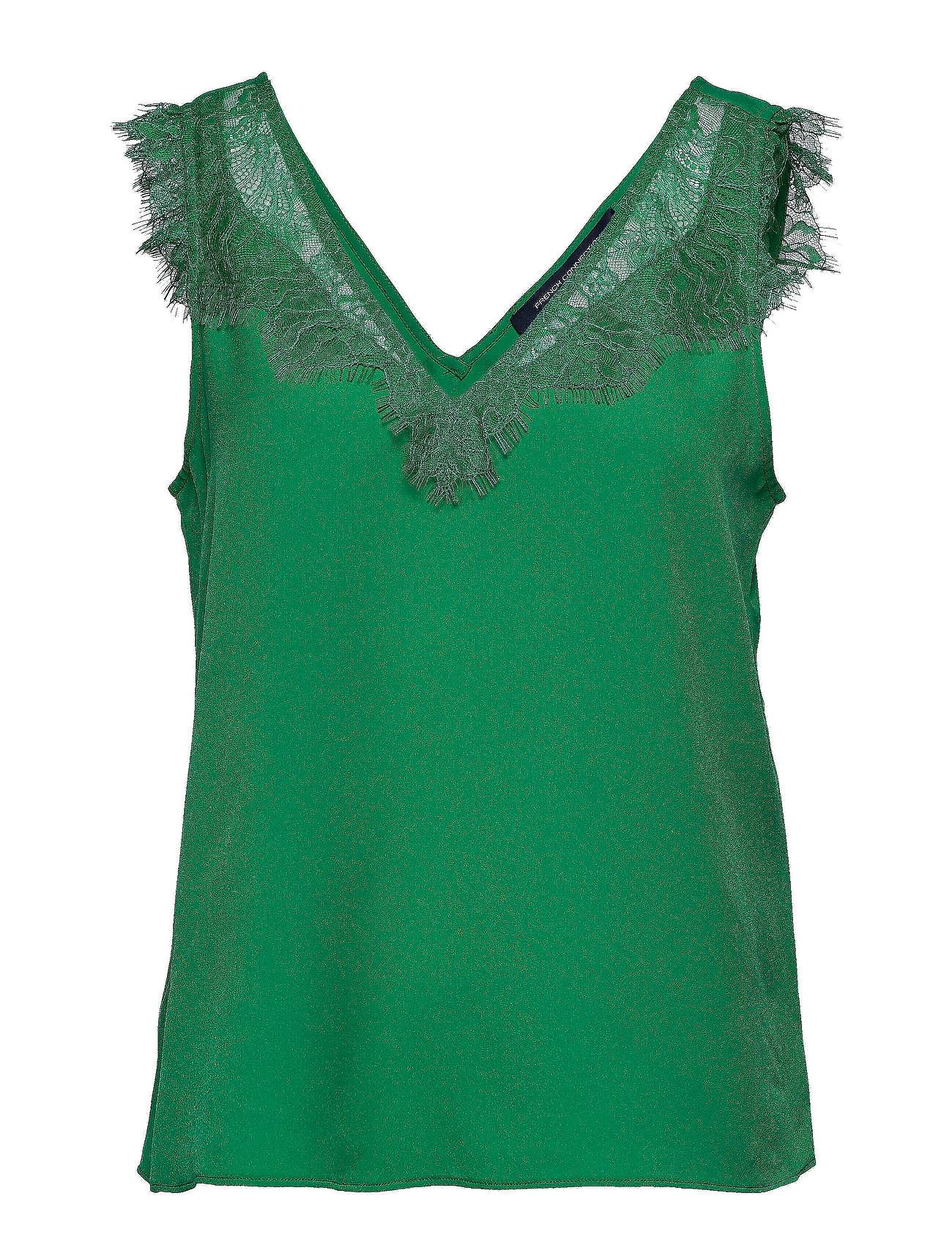 French Connection Chioma Light Lace Top T-shirts & Tops Sleeveless Vihreä French Connection