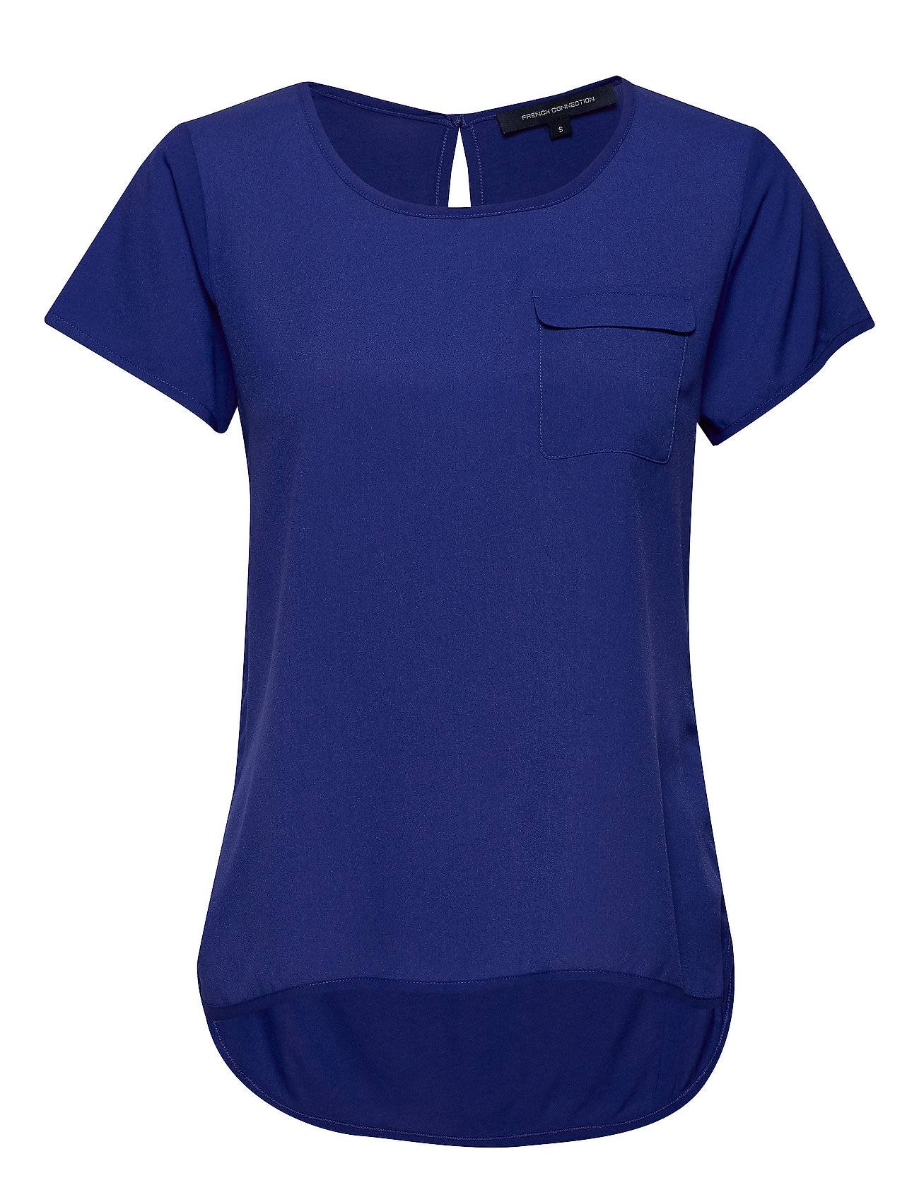 French Connection Abena Light Round Neck Top T-shirts & Tops Short-sleeved Sininen French Connection