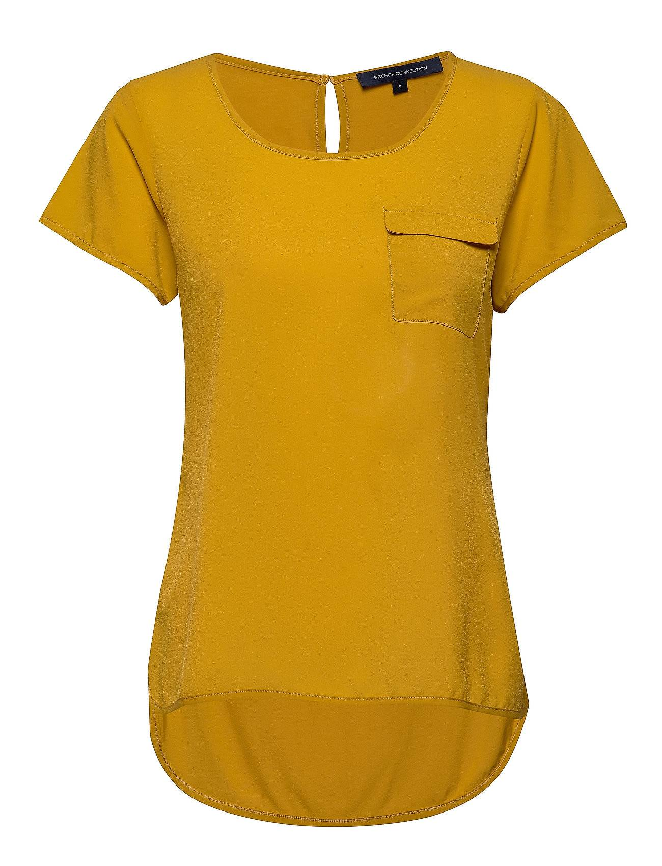 French Connection Abena Light Round Neck Top T-shirts & Tops Short-sleeved Keltainen French Connection