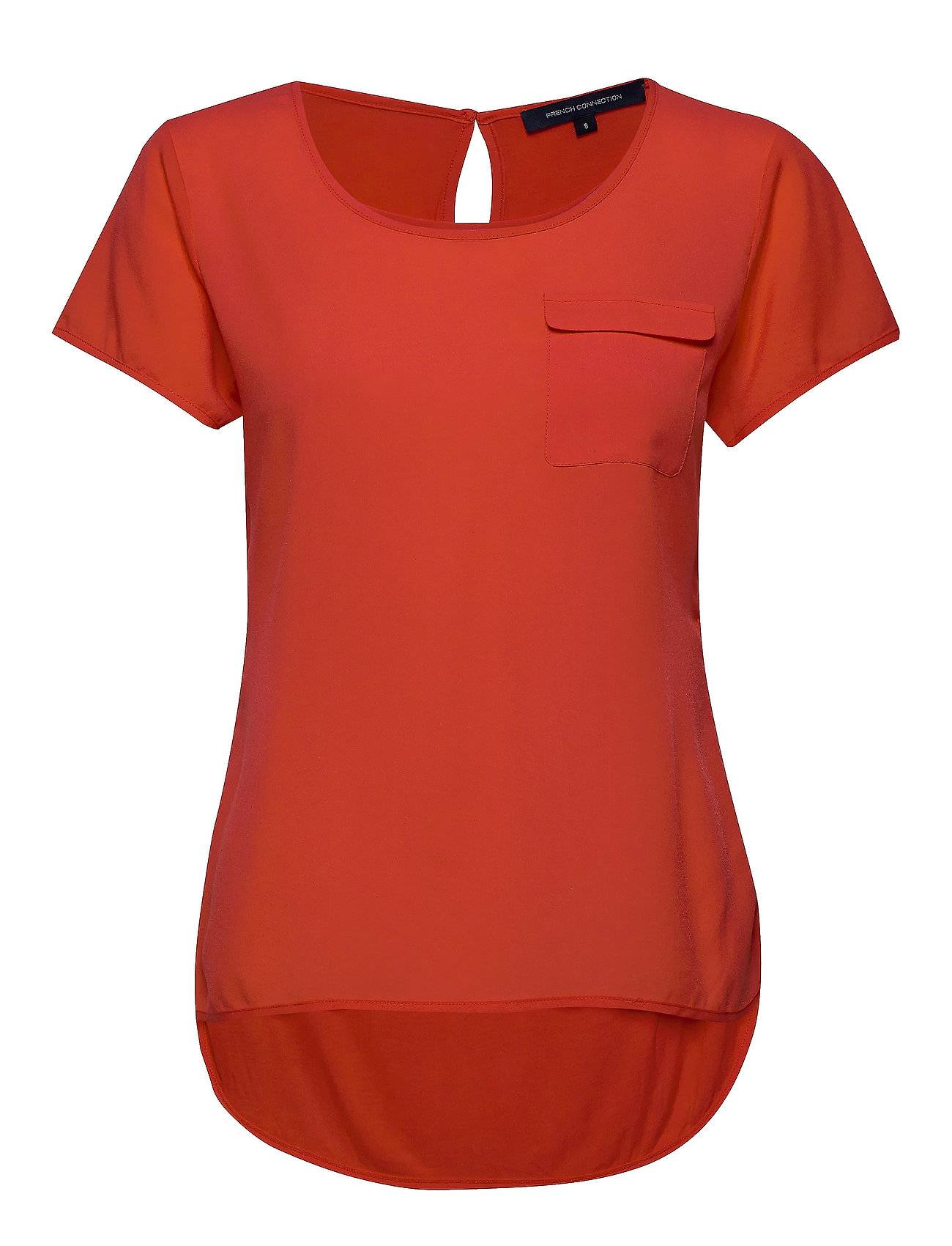 French Connection Abena Light Round Neck Top T-shirts & Tops Short-sleeved Punainen French Connection