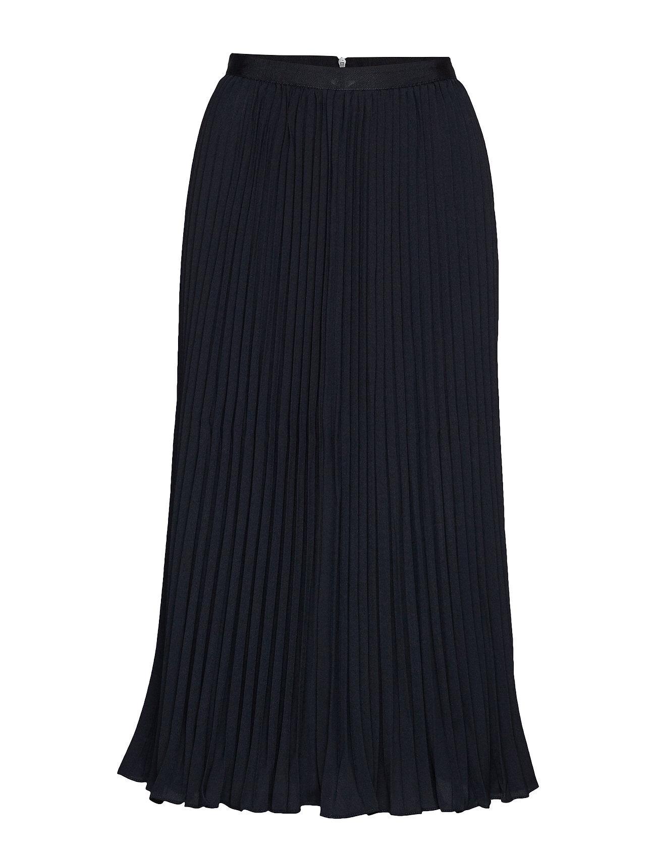 French Connection Crepe Light Pleatd Midi Skirt Polvipituinen Hame Sininen French Connection