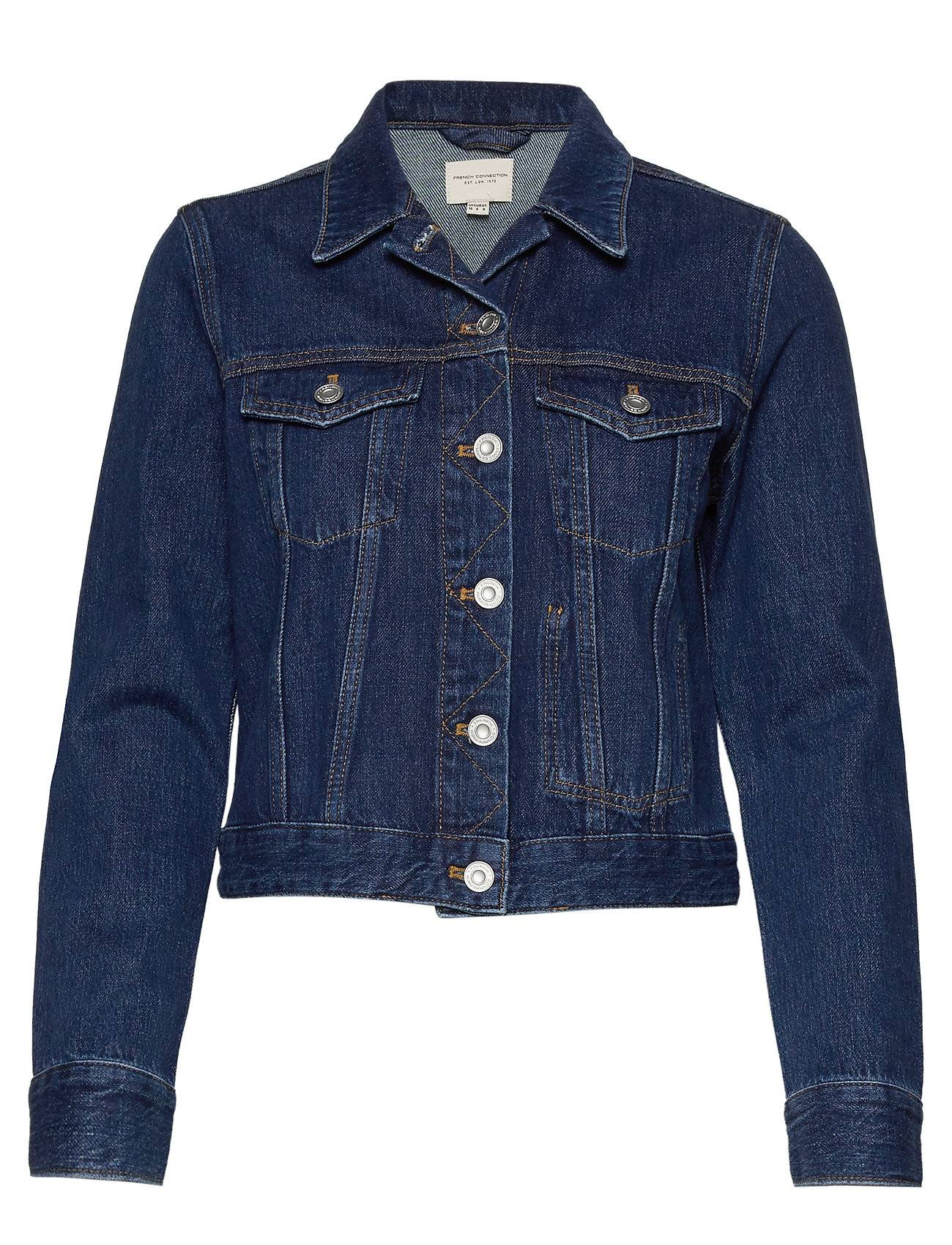 French Connection Macee Micro Wstrn Denim Ls Jkt Farkkutakki Denimtakki Sininen French Connection