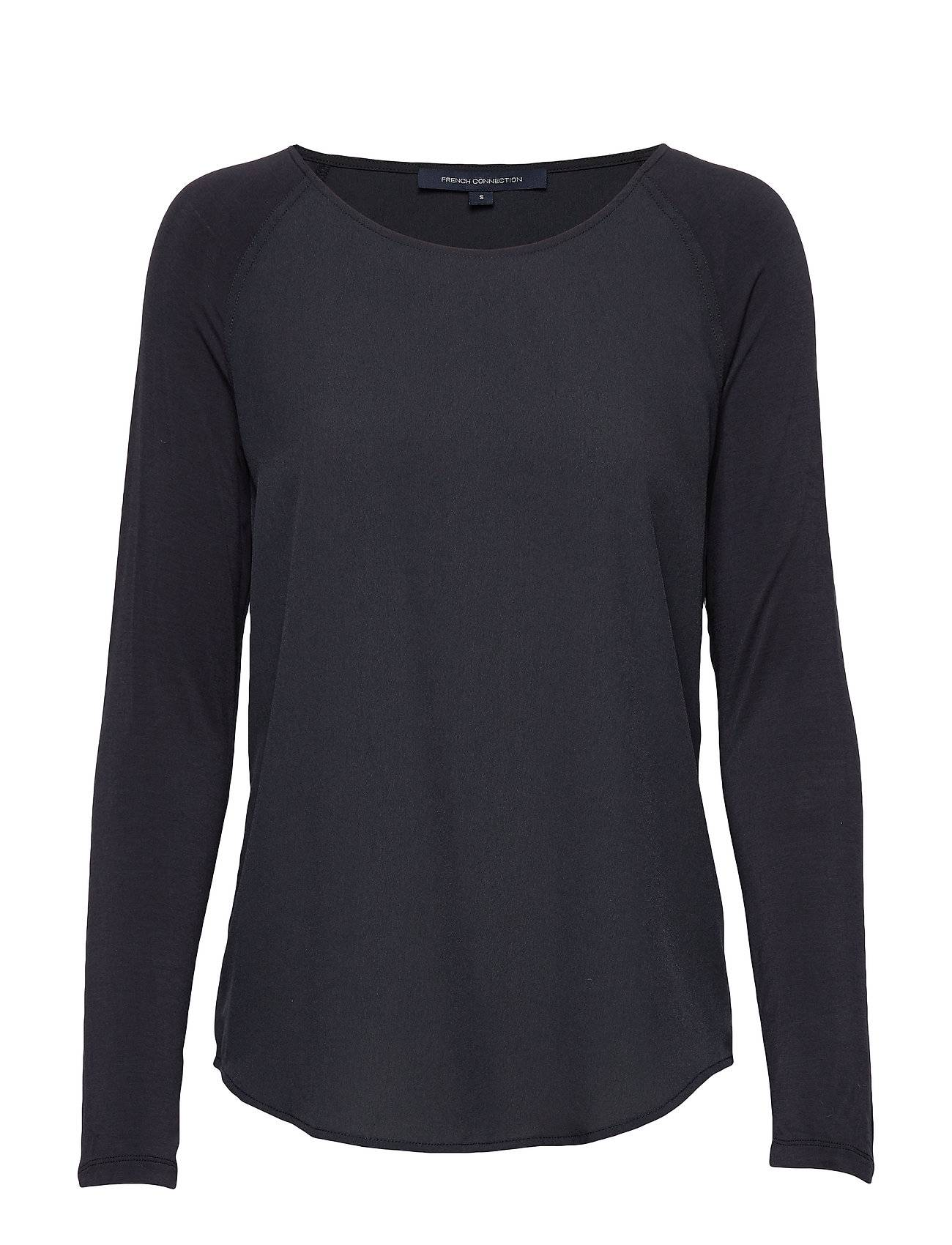 French Connection Polly Plains Ls T-shirts & Tops Long-sleeved Sininen French Connection