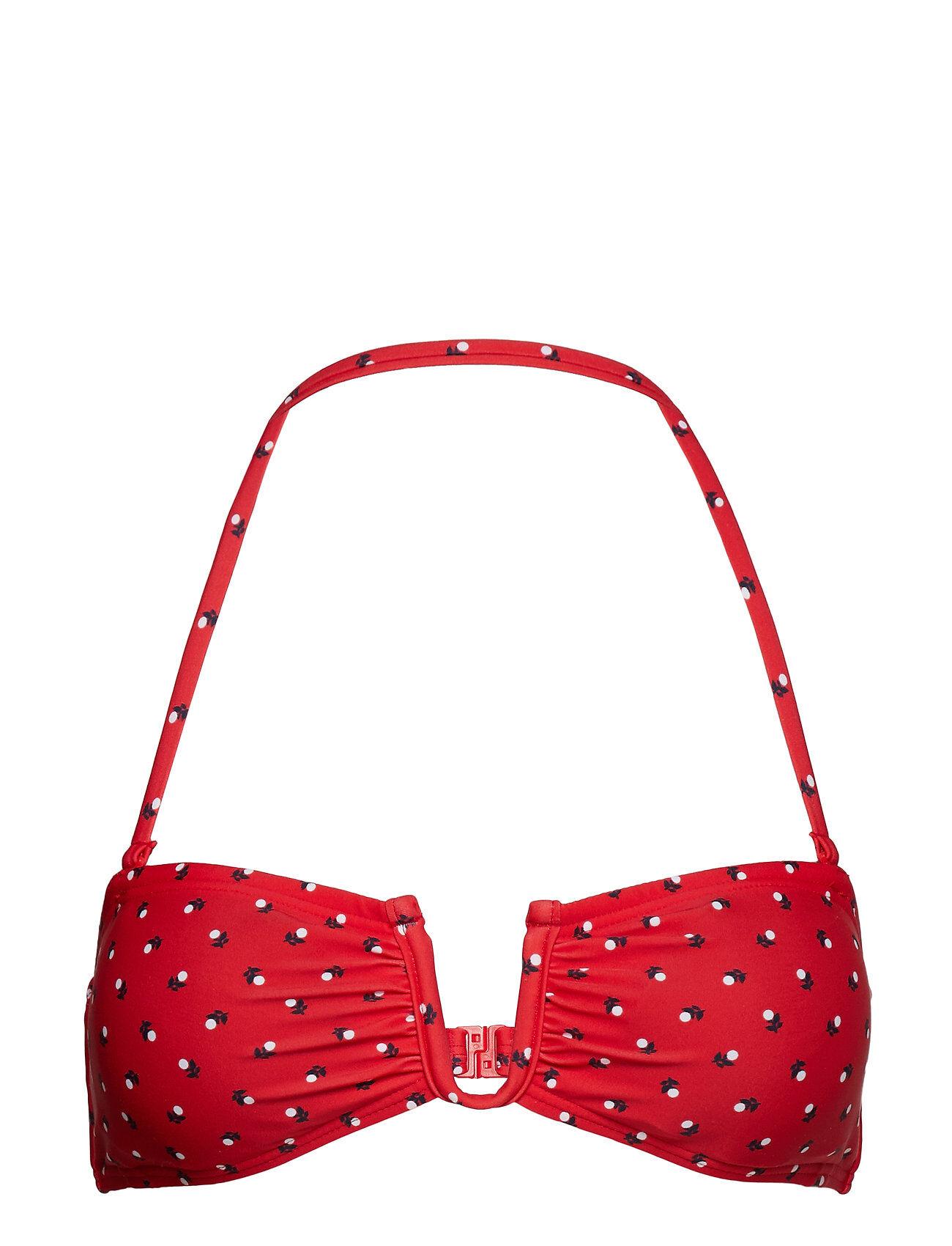 French Connection Fleur Spot Bandeau Bikini Top
