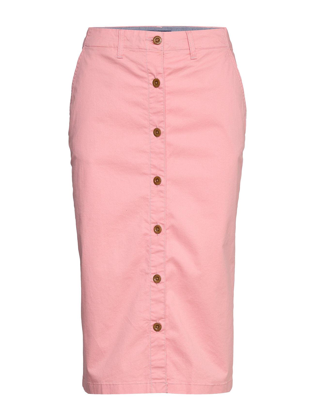 GANT D1. Hw Chino Skirt Polvipituinen Hame Vaaleanpunainen GANT