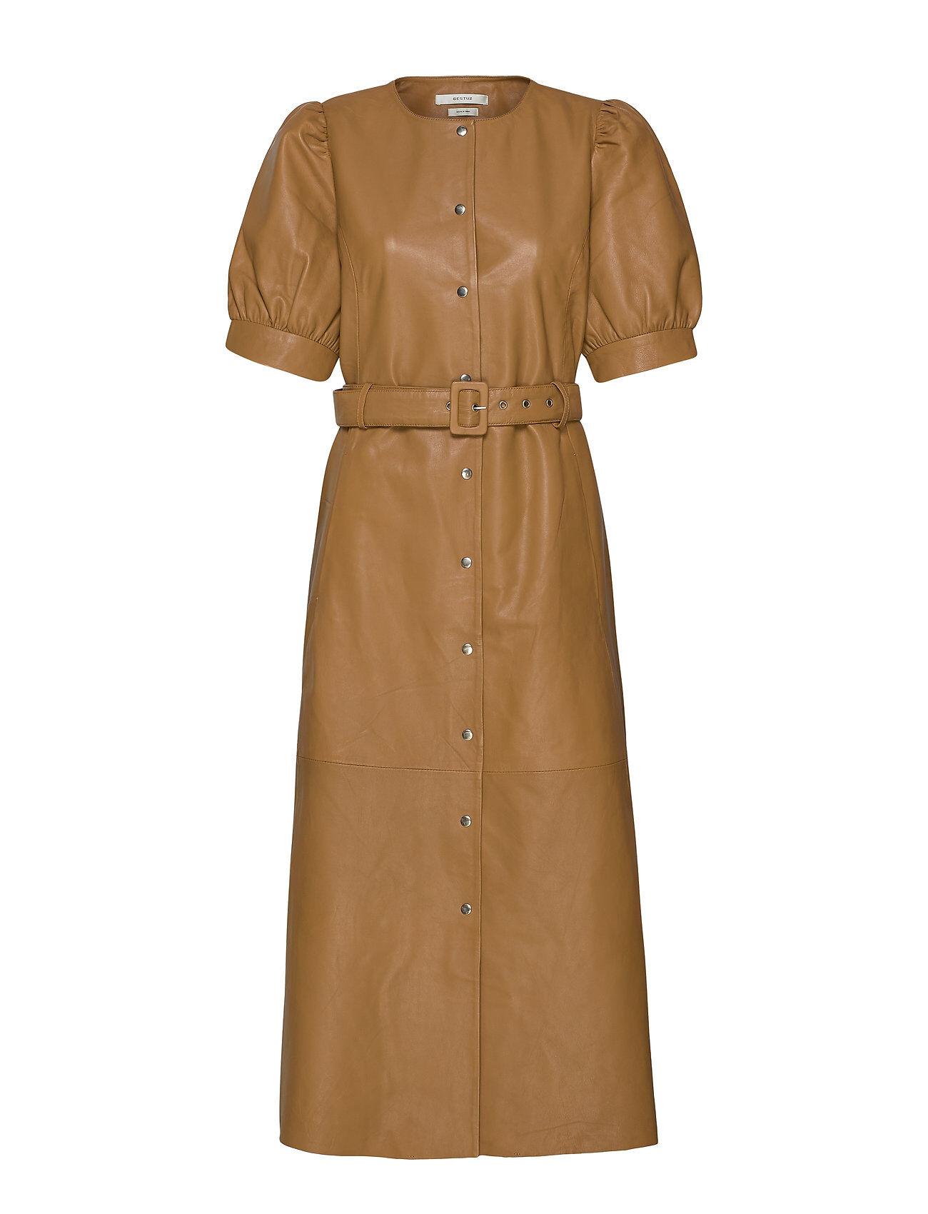 Gestuz Surigz Dress Polvipituinen Mekko Ruskea Gestuz