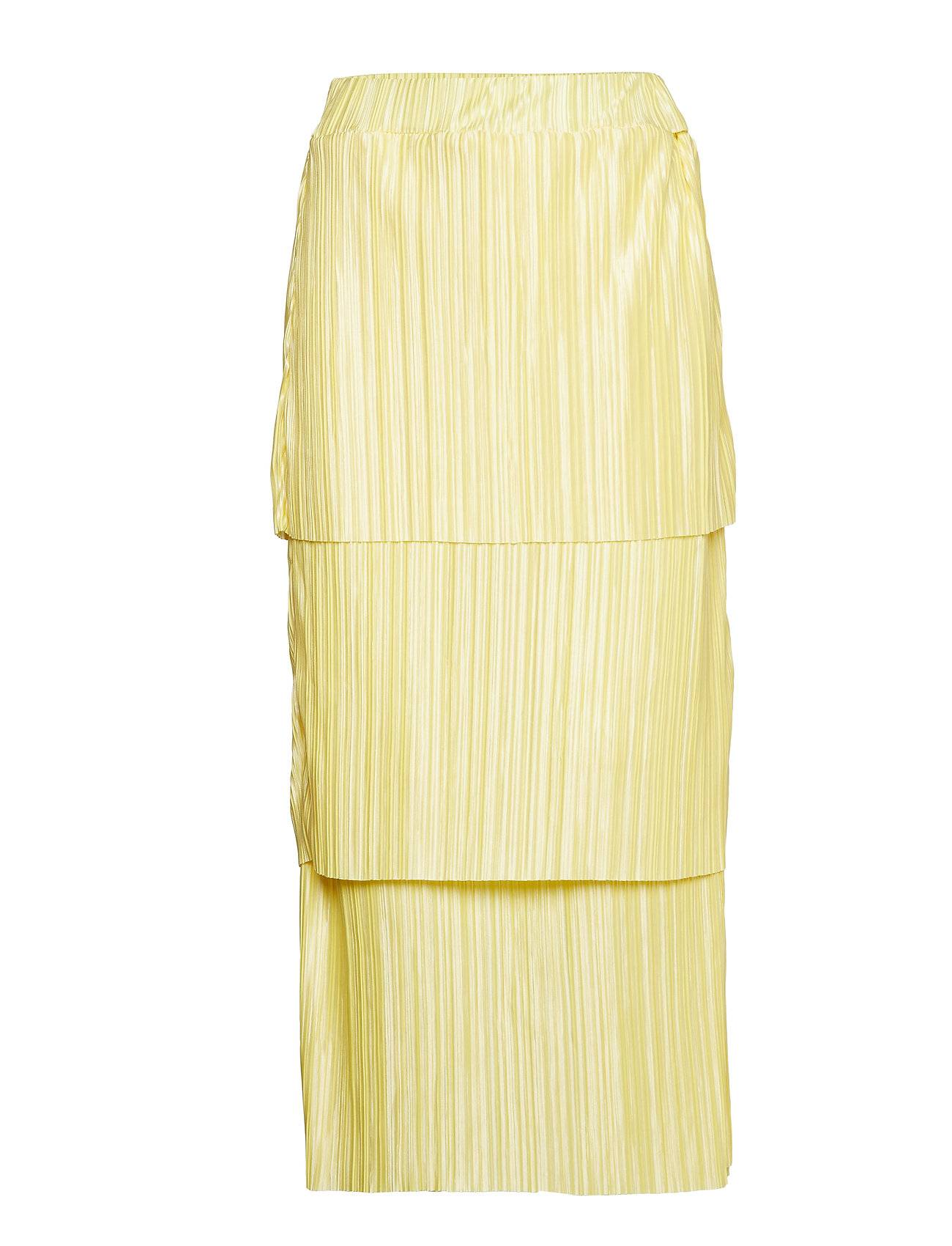 Gina Tricot Meja Pleated Skirt Polvipituinen Hame Keltainen Gina Tricot