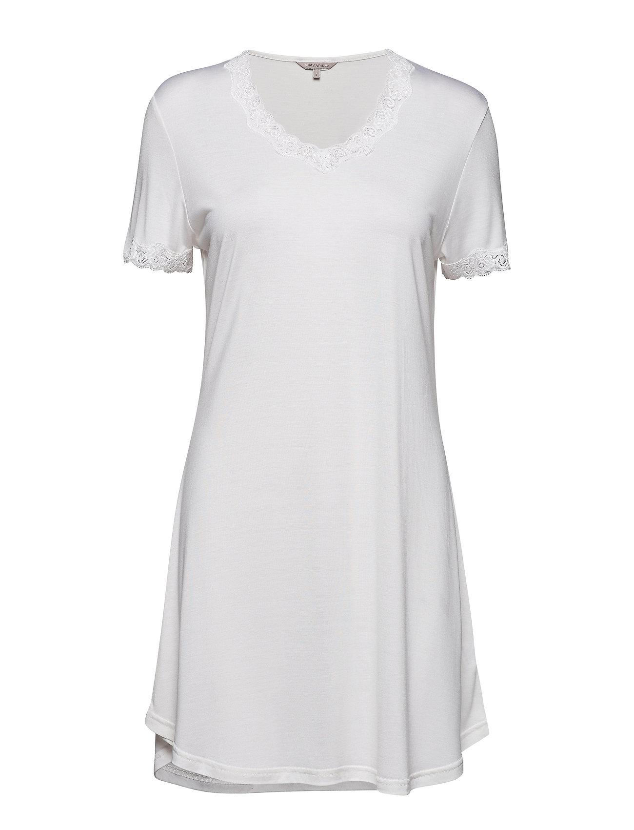 Lady Avenue Silk Jersey - Nightgown W.Sleeve