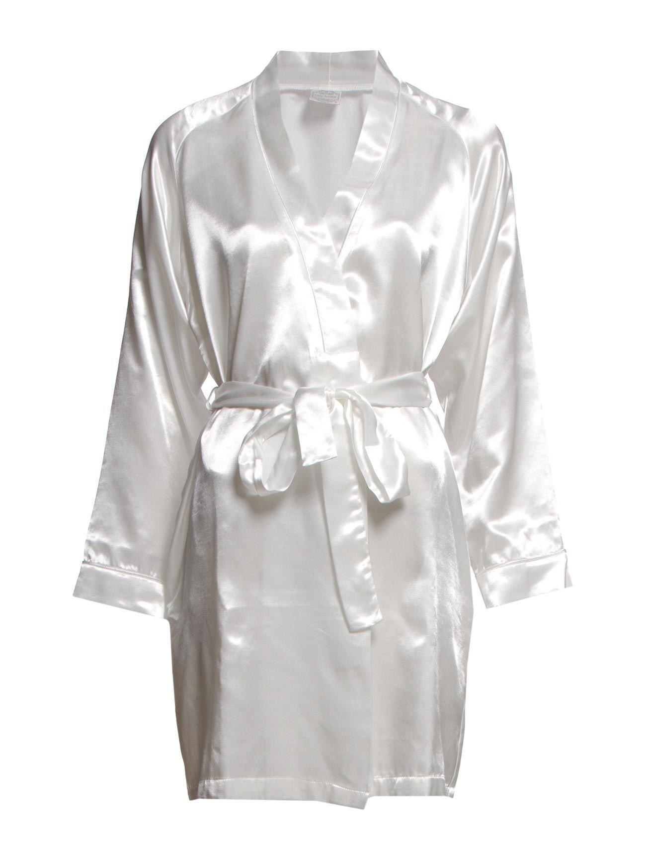 Lady Avenue Satin Short Kimono