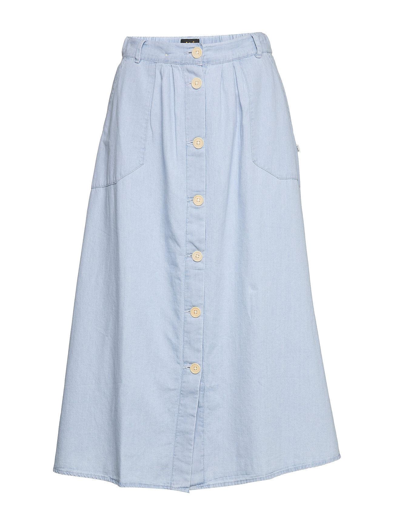 Lee Jeans Chambray Skirt Polvipituinen Hame Sininen Lee Jeans