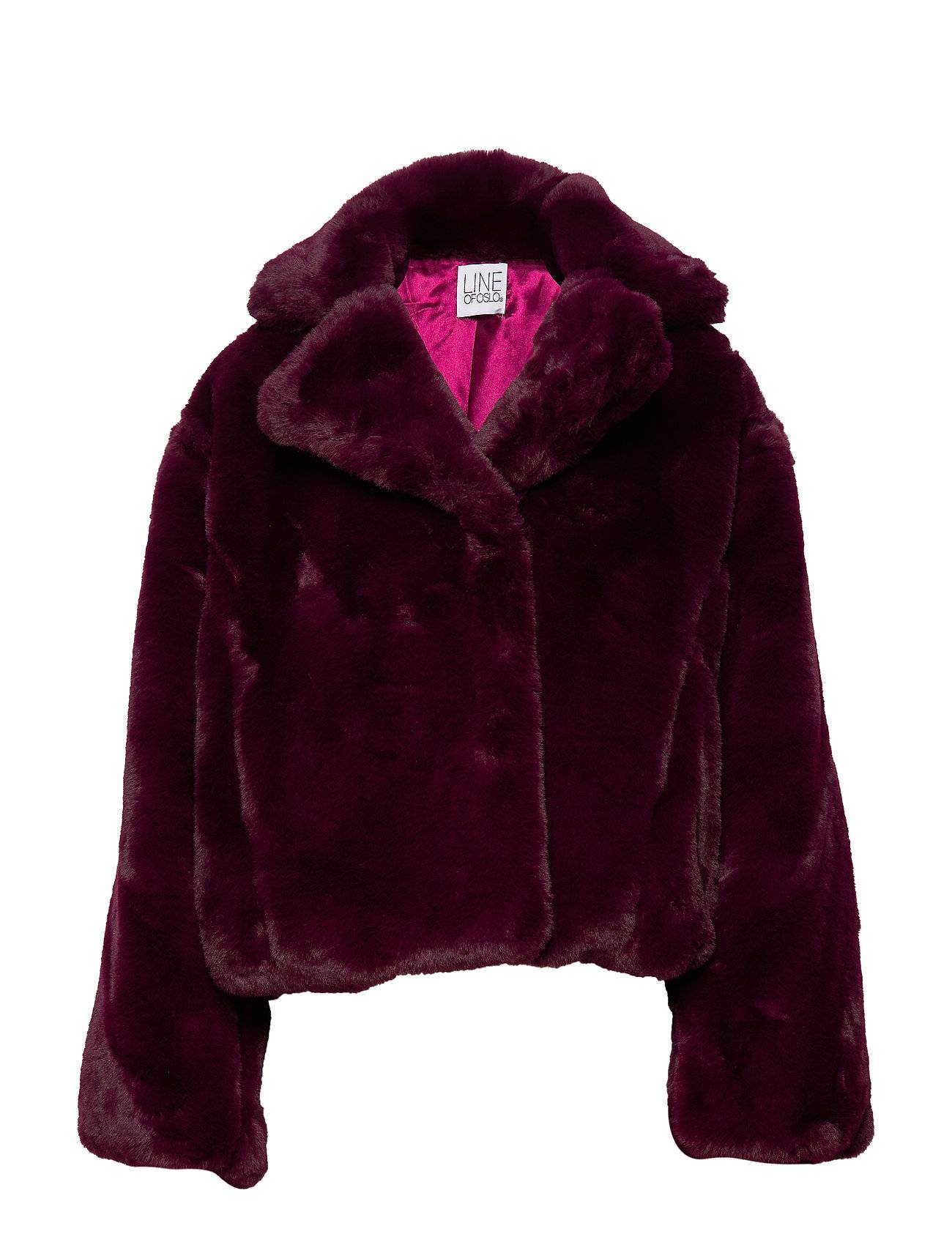 Line of Oslo Beyonce Solid Outerwear Faux Fur Punainen Line Of Oslo