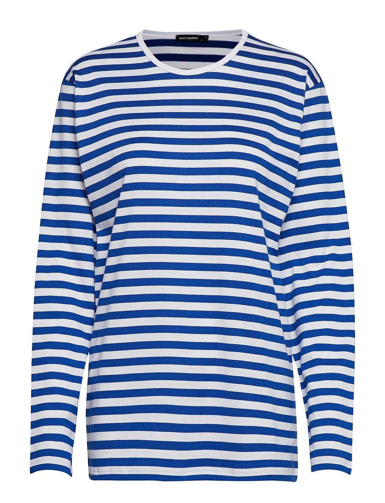 Marimekko PitkÄHiha 2017 Shirt T-shirts & Tops Long-sleeved Sininen Marimekko
