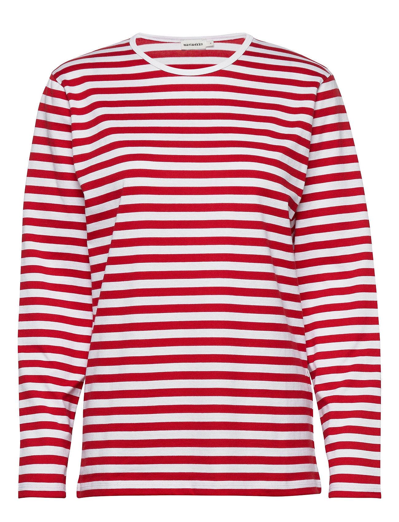 Marimekko PitkÄHiha 2017 Shirt T-shirts & Tops Long-sleeved Punainen Marimekko