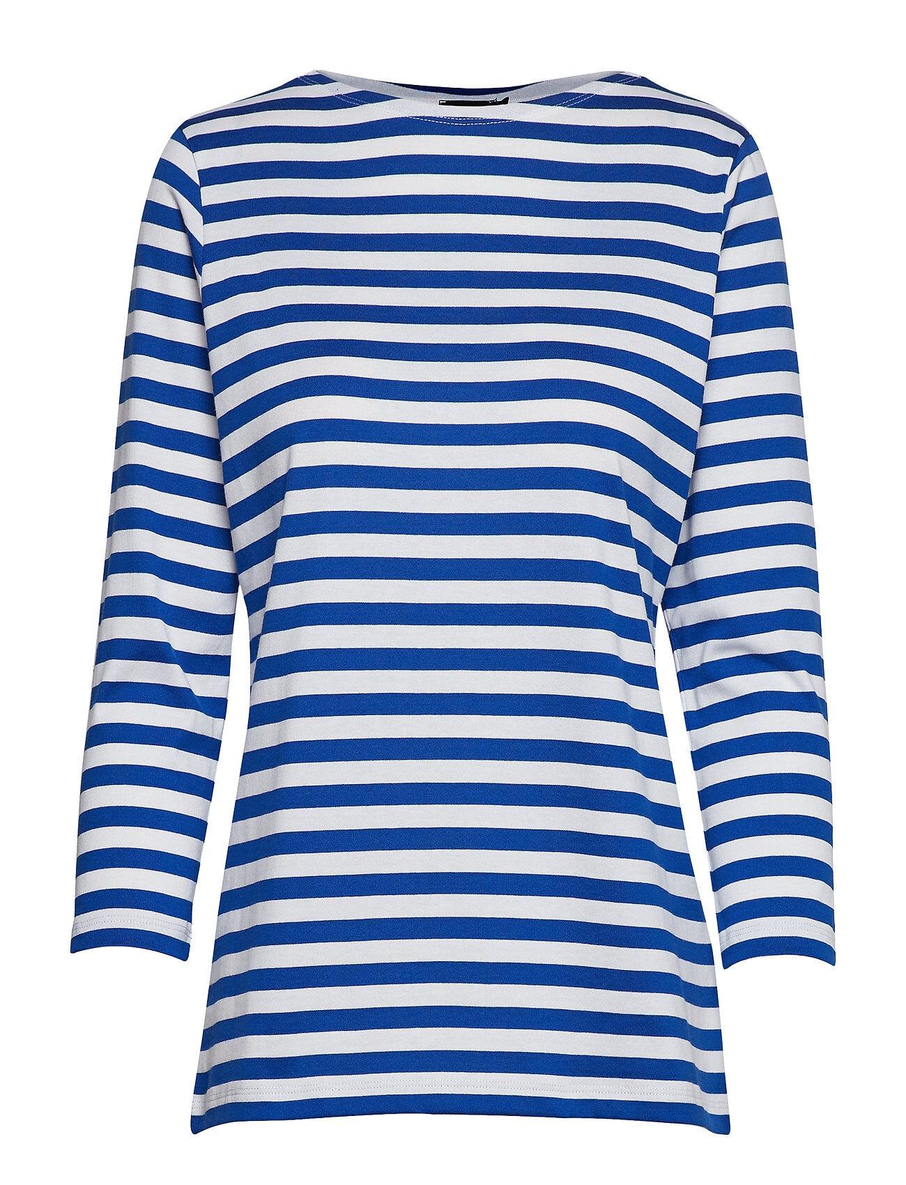 Marimekko Ilma Shirt T-shirts & Tops Long-sleeved Sininen Marimekko
