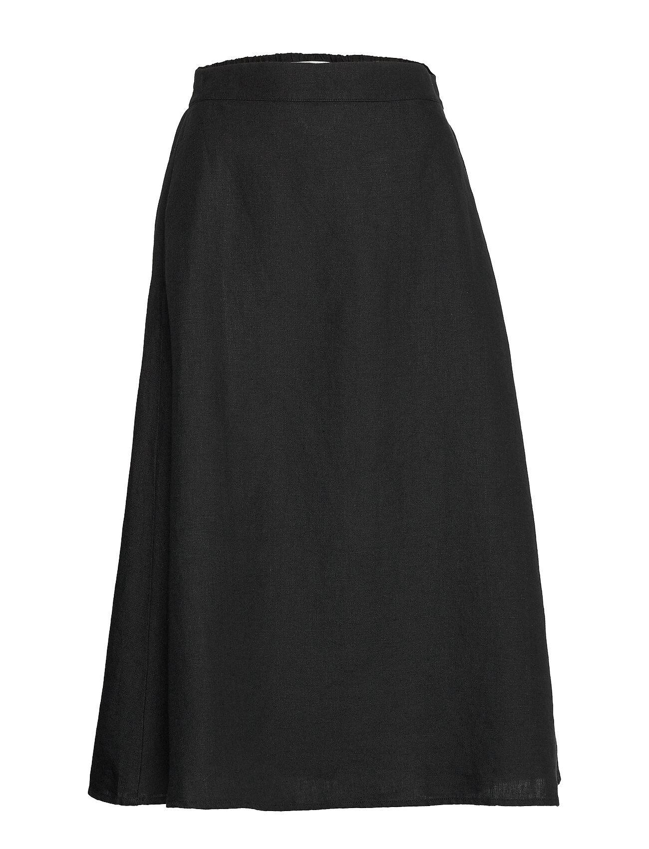 Marimekko Suoda Solid Skirt Polvipituinen Hame Musta Marimekko