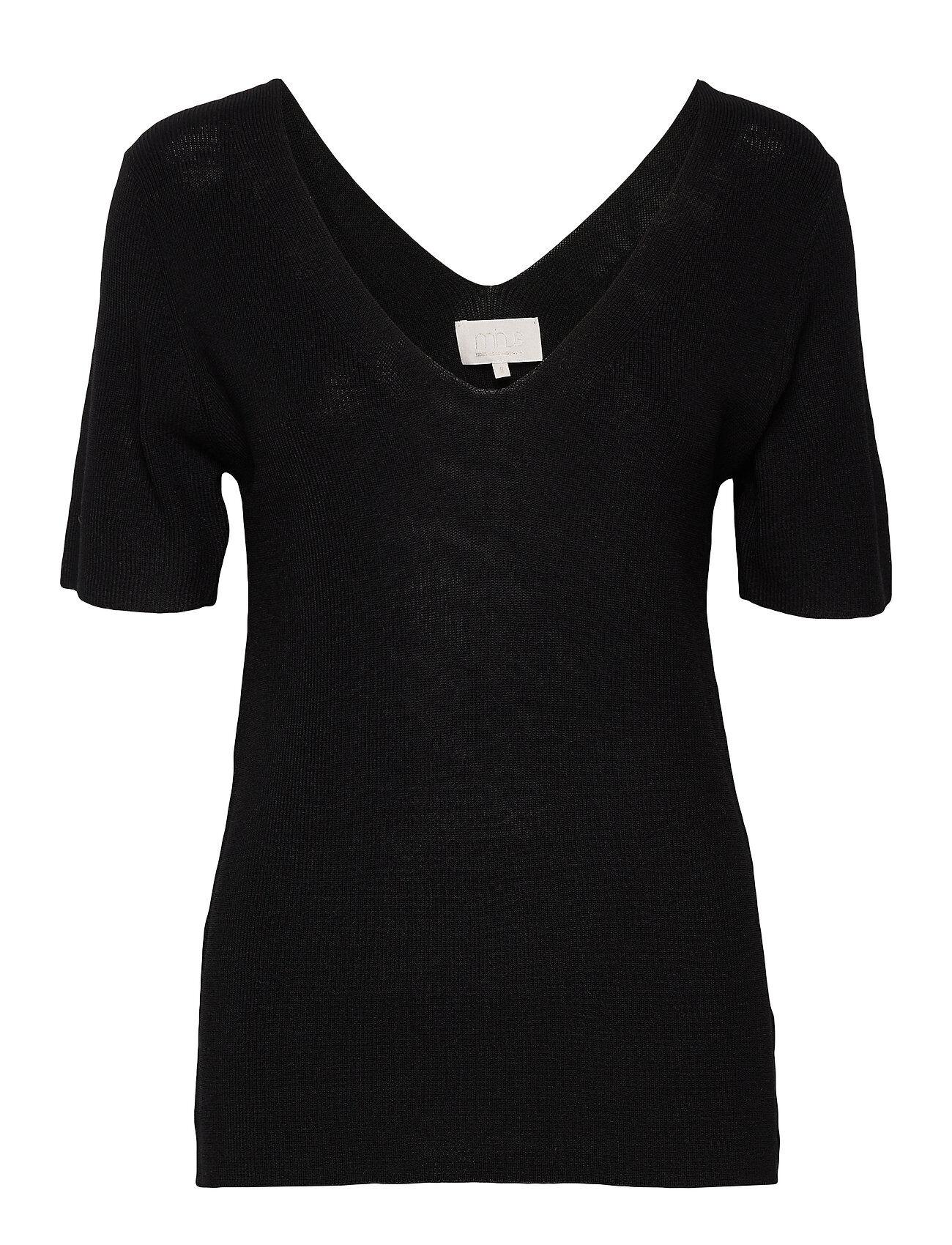 Minus Bex Knit Tee T-shirts & Tops Knitted T-shirts/tops Musta Minus