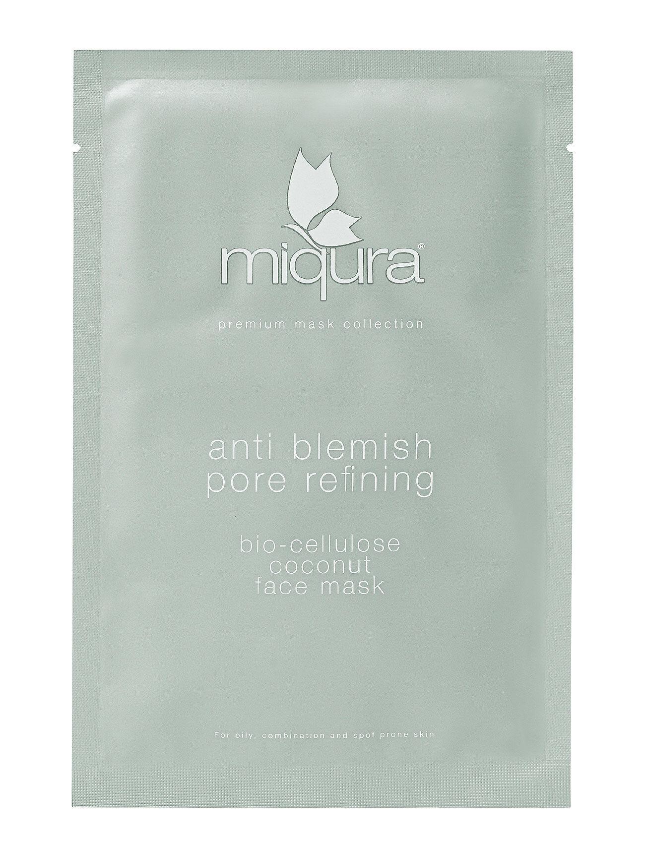 Miqura Anti Blemish Pore Refining Bio Cellulose Sheet Mask Beauty WOMEN Skin Care Face Sheet Mask Nude Miqura