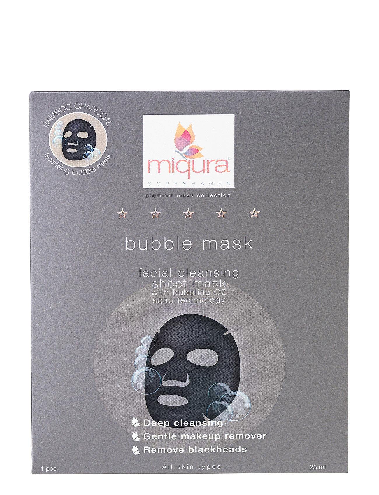 Miqura Bubble Mask Box Beauty WOMEN Skin Care Face Sheet Mask Nude Miqura