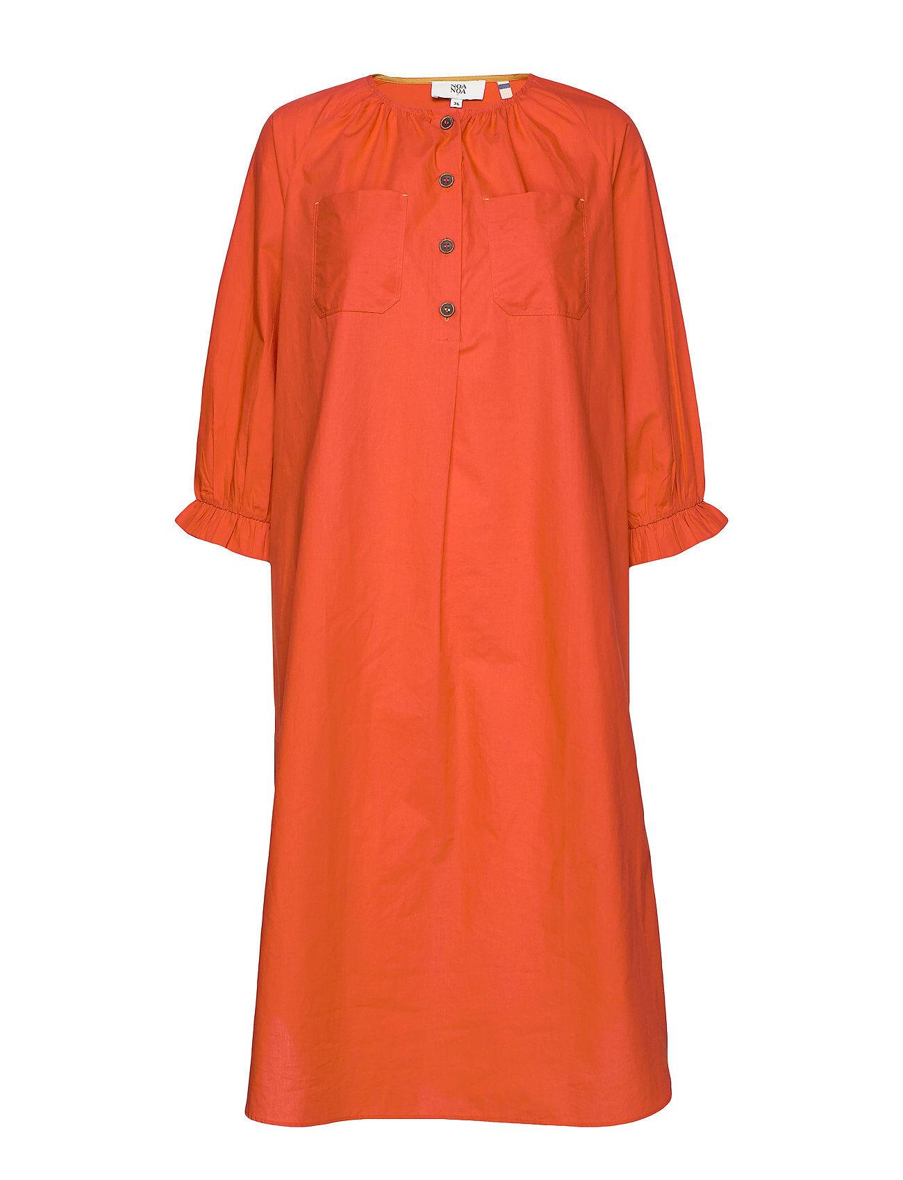 Noa Noa Dress Long Sleeve Polvipituinen Mekko Oranssi Noa Noa