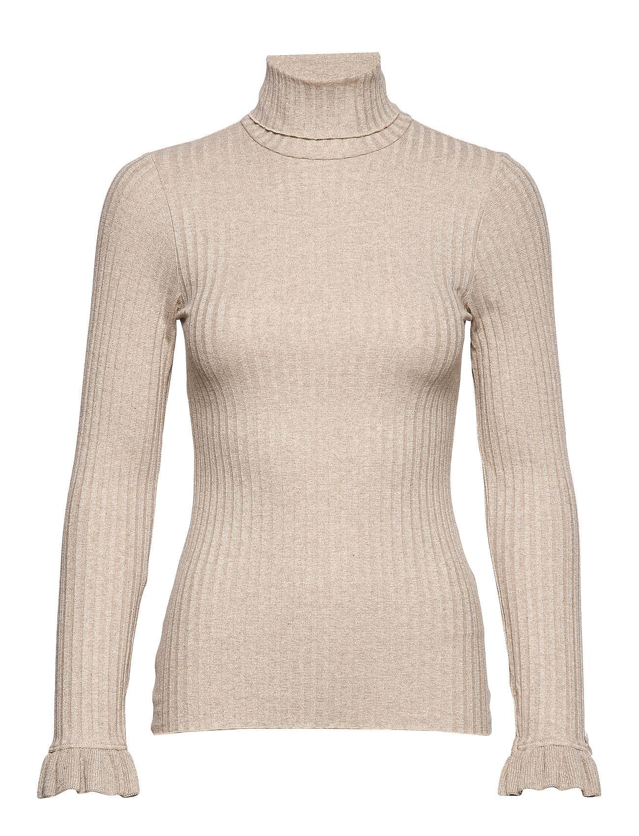 Image of ODD MOLLY Miss Turtle L/S Top Neulepaita Beige