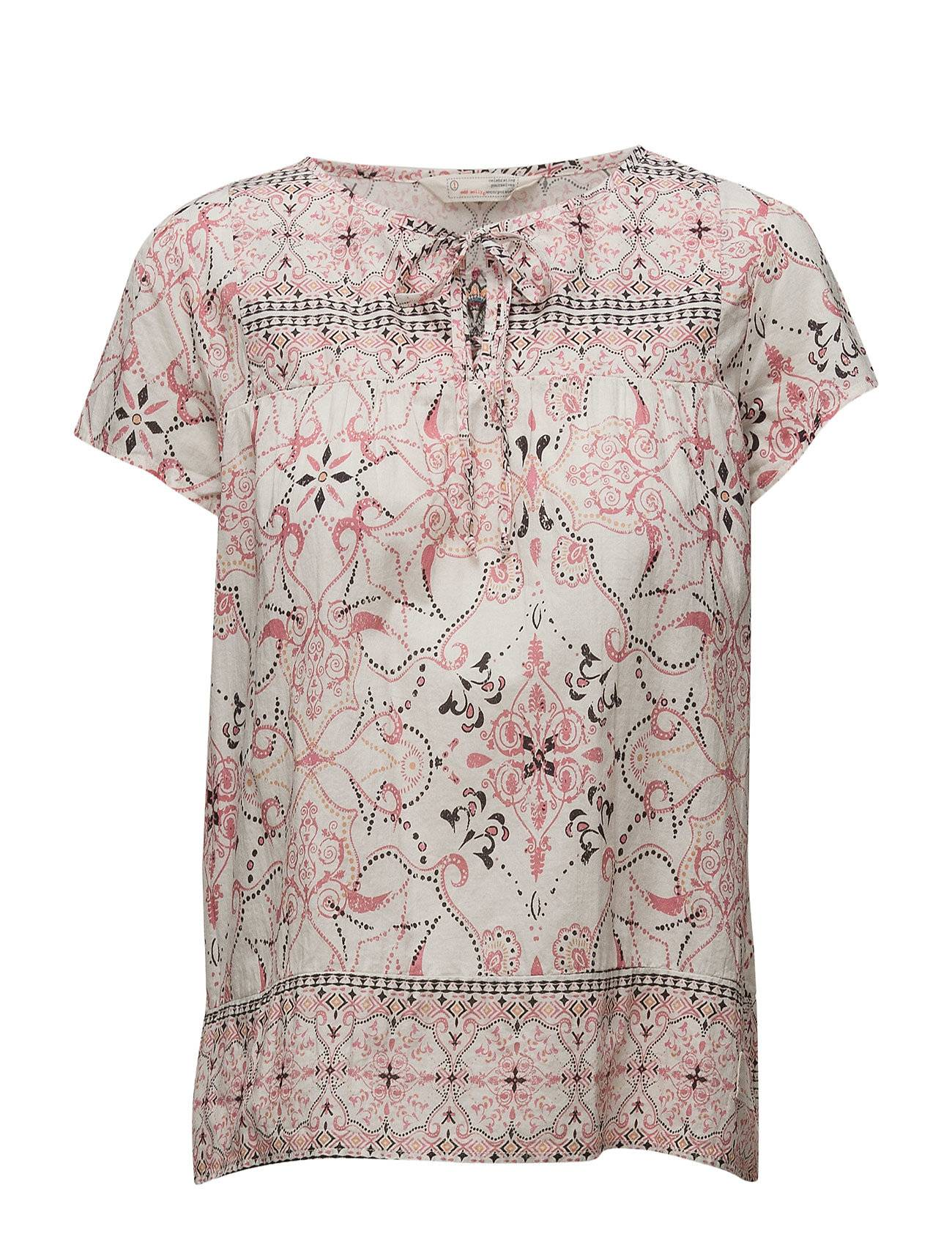 Image of ODD MOLLY Backb Blouse Blouses Short-sleeved Vaaleanpunainen ODD MOLLY